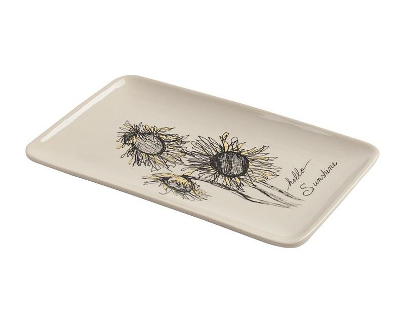 Декоративное блюдо SunflowerДекоративные блюда<br><br><br>Material: Керамика<br>Width см: 19,5<br>Depth см: 12,3<br>Height см: 1,5