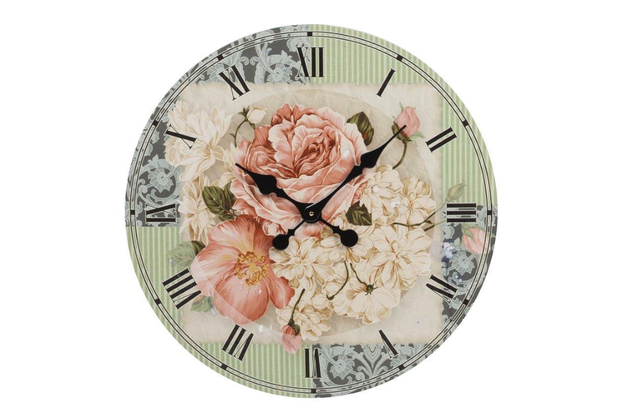 Настенные часы MerkyttiНастенные часы<br>Настенные часы Merkytti — роскошный, но в то же время изысканный элемент декора помещения, оформленного в модном кантри-стиле. Изготовленные из прочного картона и оснащенные качественным часовым механизмом они прослужат вам долгие годы. Оригинальные растительные мотивы — изумительные цветы — на нежном фоне не оставят равнодушным ни одного ценителя красивых вещей. Украсьте свой дом со вкусом!&amp;amp;nbsp;Кварцевый механизм.<br><br>Material: Картон<br>Depth см: 1<br>Diameter см: 60