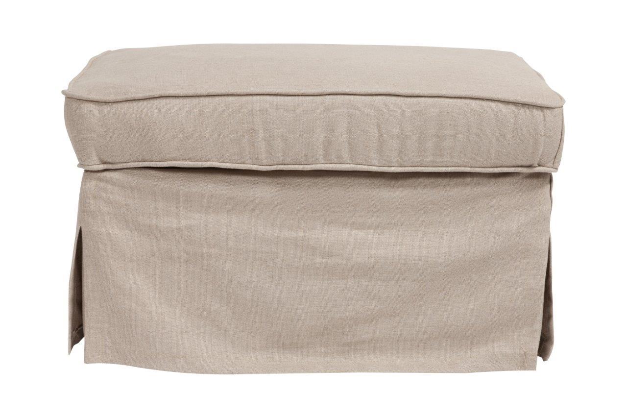 Пуф HanhyФорменные пуфы<br>Пуф Hanhy — надежный и долговечный вариант с жестким деревянным каркасом, мягким сиденьем из мебельного поролона, выполнен в виде куба, с тканевым покрытием из натурального льна бежевого цвета. Пуф имеет «второе дно» — небольшую, но достаточно вместительную ёмкость, расположенную под крышкой, в которую можно сложить различные мелочи, отлично подойдет к туалетному столику.<br><br>Material: Текстиль<br>Ширина см: 70<br>Высота см: 45<br>Глубина см: 50