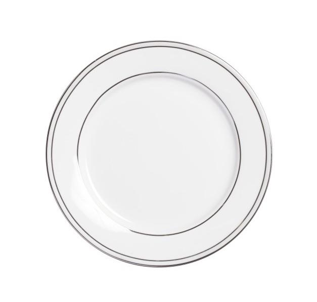 Тарелка ClearТарелки<br>Тарелка классической формы, изготовлена из фарфора белого цвета  с нанесением по краю двух тоненьких полосок серого цвета. Тарелку   можно приобрести отдельно или в комплекте с другими столовыми предметами  из серии.<br><br>Material: Фарфор<br>Height см: 1<br>Diameter см: 20