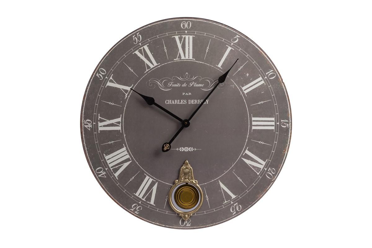Настенные часы с маятником CostanzaНастенные часы<br>Настенные часы с маятником Costanza украсят любую комнату в вашем доме, будь то гостиная, спальня или кухня, добавят ей уюта и тепла, а также станут превосходным предметом декора стен. Приятный серый цвет циферблата удачно подчеркнет спокойные оттенки стен, добавляя им и некую изюминку. Часы особенно гармонично будут смотреться в интерьере, оформленном в стиле Прованс.&amp;amp;nbsp;Кварцевый механизм.<br><br>Material: Дерево<br>Глубина см: 5