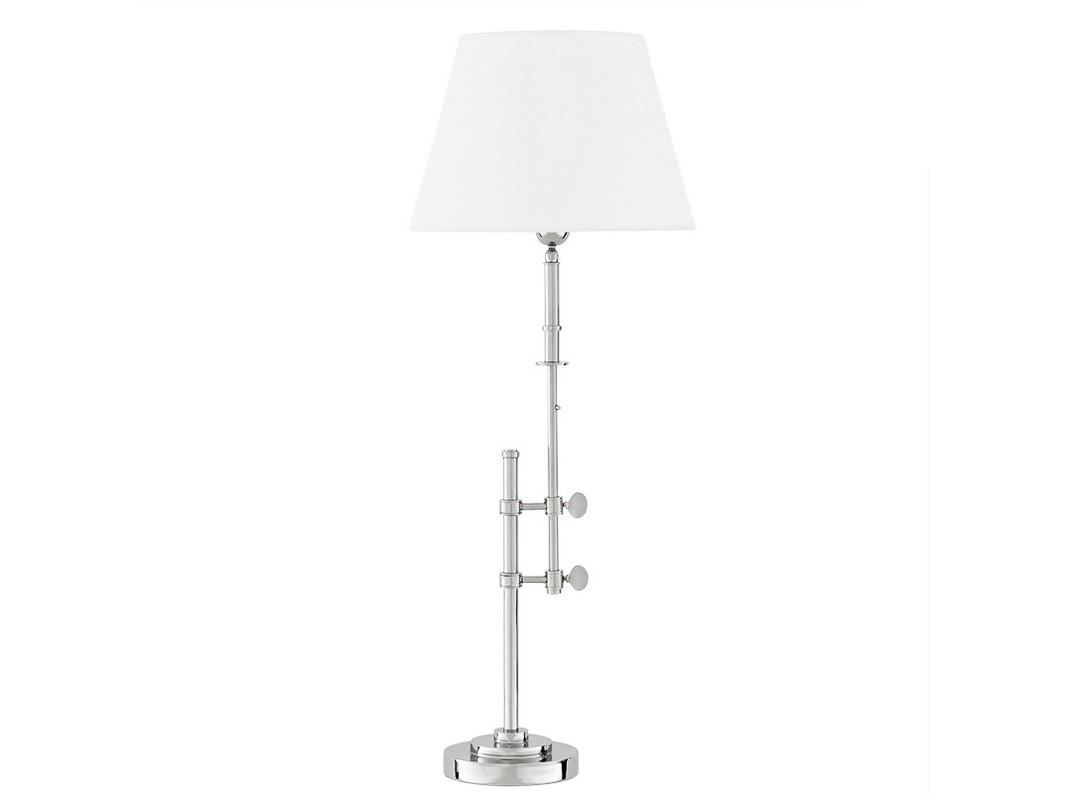 Настольная лампаДекоративные лампы<br>Настольный светильник с каркасом из никелированного металла. Каркас абажура поднимается и опускается на нужную вам высоту при помощи декоративных креплений.&amp;amp;nbsp;&amp;amp;nbsp;Дизайн выполнен в современном индустриальном стиле.&amp;lt;div&amp;gt;&amp;lt;br&amp;gt;&amp;lt;/div&amp;gt;&amp;lt;div&amp;gt;&amp;lt;div&amp;gt;Вид цоколя: Е27&amp;lt;/div&amp;gt;&amp;lt;div&amp;gt;Мощность лампы: 40W&amp;lt;/div&amp;gt;&amp;lt;div&amp;gt;Количество ламп: 1&amp;lt;/div&amp;gt;&amp;lt;div&amp;gt;Наличие ламп: нет&amp;lt;/div&amp;gt;&amp;lt;/div&amp;gt;<br><br>Material: Металл<br>Height см: 90<br>Diameter см: 35