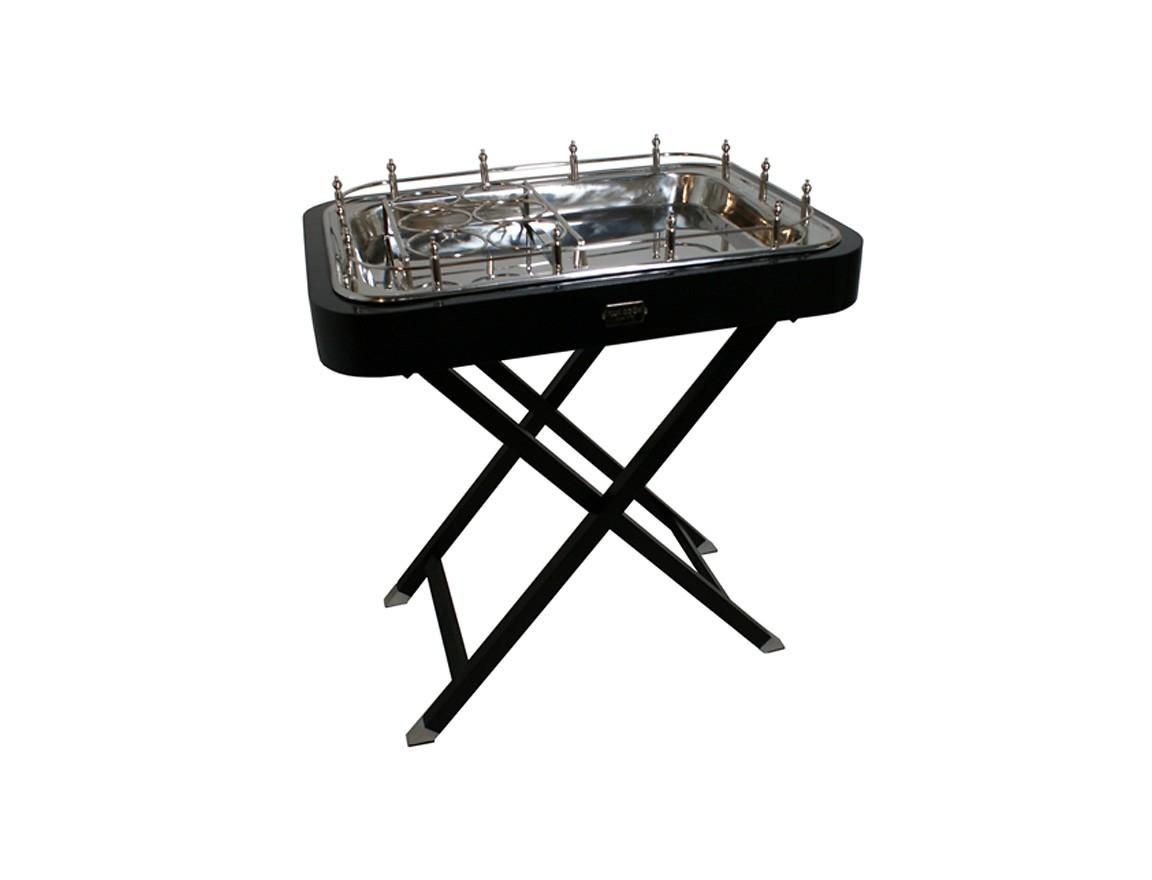 СтолБарные столы<br>Барный столик из коллекции George выполнен из дерева черного цвета. Столешница из никелированного металла.<br><br>Material: Металл<br>Ширина см: 80<br>Высота см: 86<br>Глубина см: 58