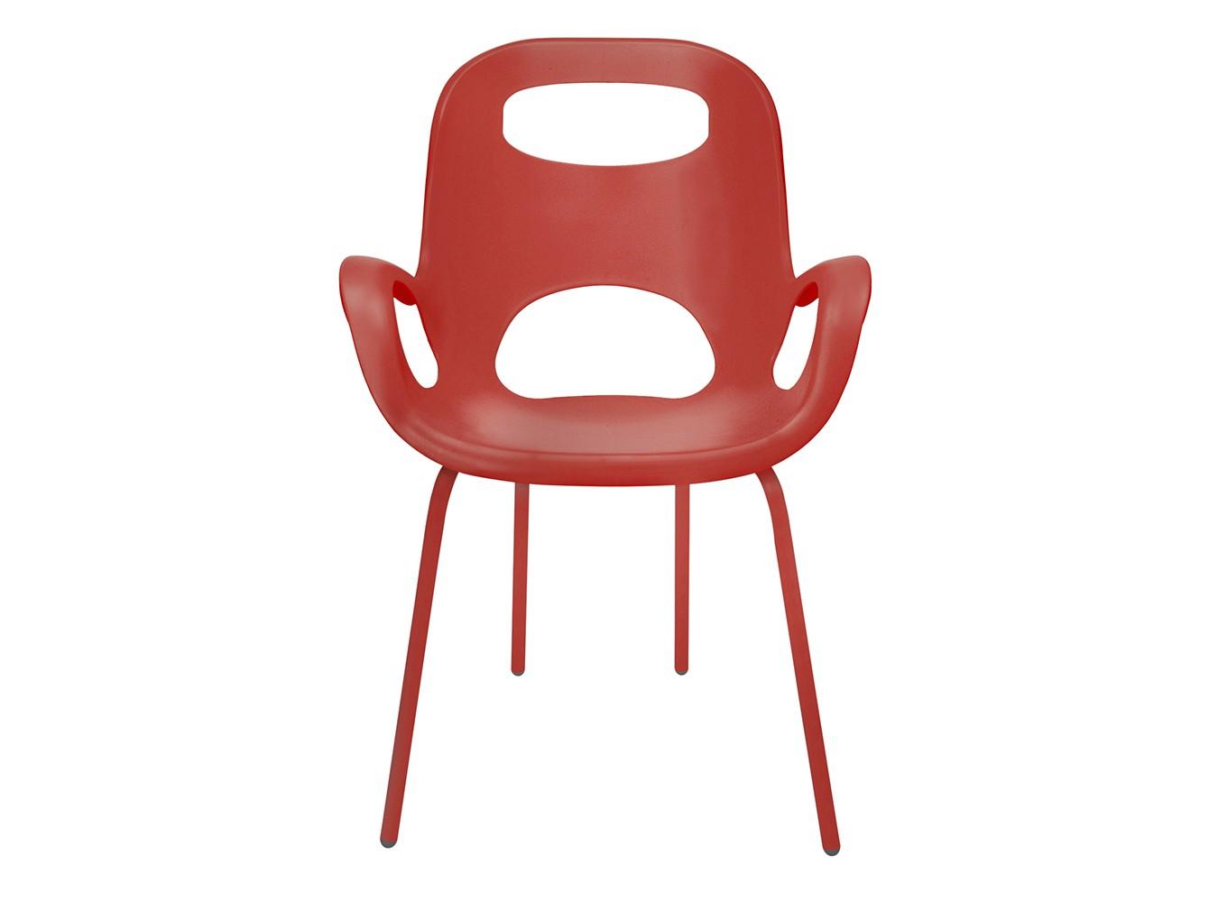 Стул Oh chairСтулья с подлокотниками<br>Новый цвет в серии знаменитых стульев от Карима Рашида — признанного гения промышленного дизайна. Выполнен в стиле, сочетающем черты классики и ретро-шика.<br>Сиденье из прочного полипропилена со специальным матовым покрытием  выдерживает до 136 кг. Ножки оснащены на концах нейлоновыми протекторами, которые защищают пол от царапин. Эргономичный дизайн обеспечивает комфорт и поддержку спины.<br><br>Material: Пластик<br>Width см: 64<br>Depth см: 60<br>Height см: 86,5