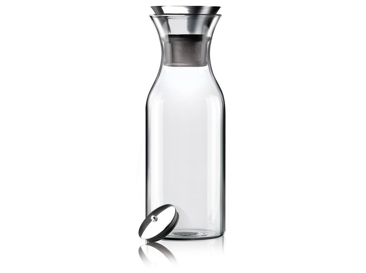 """Графин FridgeЕмкости для хранения<br>Подходит для воды, сока или чая, который можно заваривать прямо в графине. Идеален для лимонадов или травяных чаев. Удобно хранить на полочке в дверце холодильника, размер подходит для большинства моделей. Материалы: закаленное стекло, нержавеющая сталь. <br>Главная особенность графина — инновационная технология Drip-free (""""ни капли мимо""""). Двойное горлышко позволяет гарантировать, что ни одна капля напитка не прольётся мимо. Металлическая крышка графина имеет силиконовый фильтр, который не даст кусочкам лимона или мяты попасть в стакан, а также она сама отодвигается, когда вы наклоняете бутылку.<br>Стеклянные и металлические части можно мыть в посудомоечной машине.&amp;lt;div&amp;gt;&amp;lt;br&amp;gt;&amp;lt;/div&amp;gt;&amp;lt;div&amp;gt;Объем: 1л&amp;lt;/div&amp;gt;<br><br>Material: Стекло<br>Height см: 27<br>Diameter см: 9"""