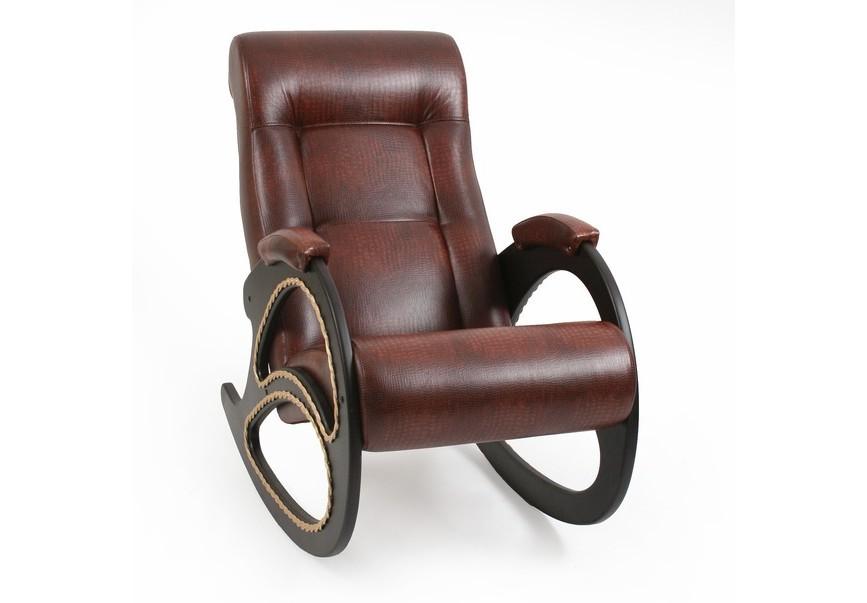 Кресло-качалкаКресла-качалки<br>Максимальная нагрузка: 120 кг.<br><br>Material: Кожа<br>Ширина см: 60<br>Высота см: 104<br>Глубина см: 89