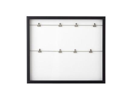 Панно с зажимами для фотографий clipline (umbra) белый 52x44x3 см.