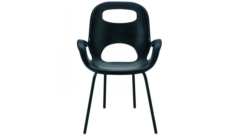 Стул дизайнерский Oh chairОбеденные стулья<br>Стильный стул, созданным Каримом Рашидом – гением и признанным гуру промышленного дизайна. Знаете, почему он называется «Oh» (по-русски – «Ого»)? Именно это вы воскликните, когда сядете и ощутите приятные объятия этого стула! Смешав классику и ретро-шик, Карим Рашид создал простой, но эффектный предмет мебели. <br>Сиденье из прочного полипропилена (выдерживает до 136 кг), со специальным матовым покрытием плюс ножки того же цвета, на концах оснащенные нейлоновыми протекторами – благодаря им стул не царапает пол. Эргономичный дизайн обеспечивает комфорт и поддержку спины. Отличный компаньон столу  в гостиной, на кухне, в саду и других местах, которым требуется дизайнерское вдохновение.<br><br>Material: Пластик<br>Width см: 61<br>Depth см: 61<br>Height см: 86
