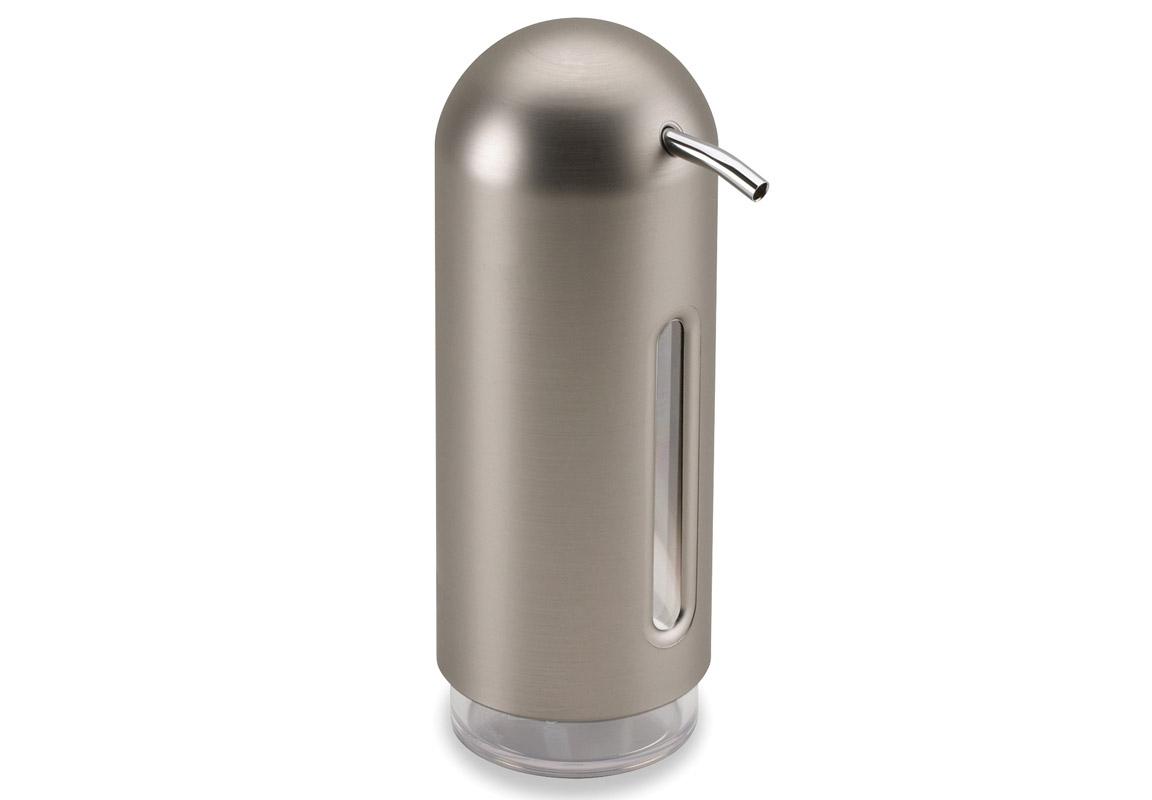 Диспенсер для жидкого мыла PenguinАксессуары для кухни<br>&amp;quot;Мыло душистое, полотенце пушистое&amp;quot; — если мыть руки, то с этим слоганом. Потому что приятно пахнущее мыло, например, ванильное или земляничное, поднимает настроение. А если оно внутри красивого диспенсера, который поможет отмерить нужное количество, это вдвойне приятно. <br>Те, кто покупает жидкое мыло, знают, что очень часто оно продается в некрасивых упаковках или очень больших бутылках, которые совершенно неудобно ставить на раковину. Проблема решена вот с таким лаконичным симпатичным диспенсером.  Теперь вы не забудете вымыть руки перед едой! <br>p.s. Важная подсказка: диспенсер также можно использовать на кухне для моющего средства, получается очень экономно.<br><br>Material: Пластик<br>Height см: 19<br>Diameter см: 6