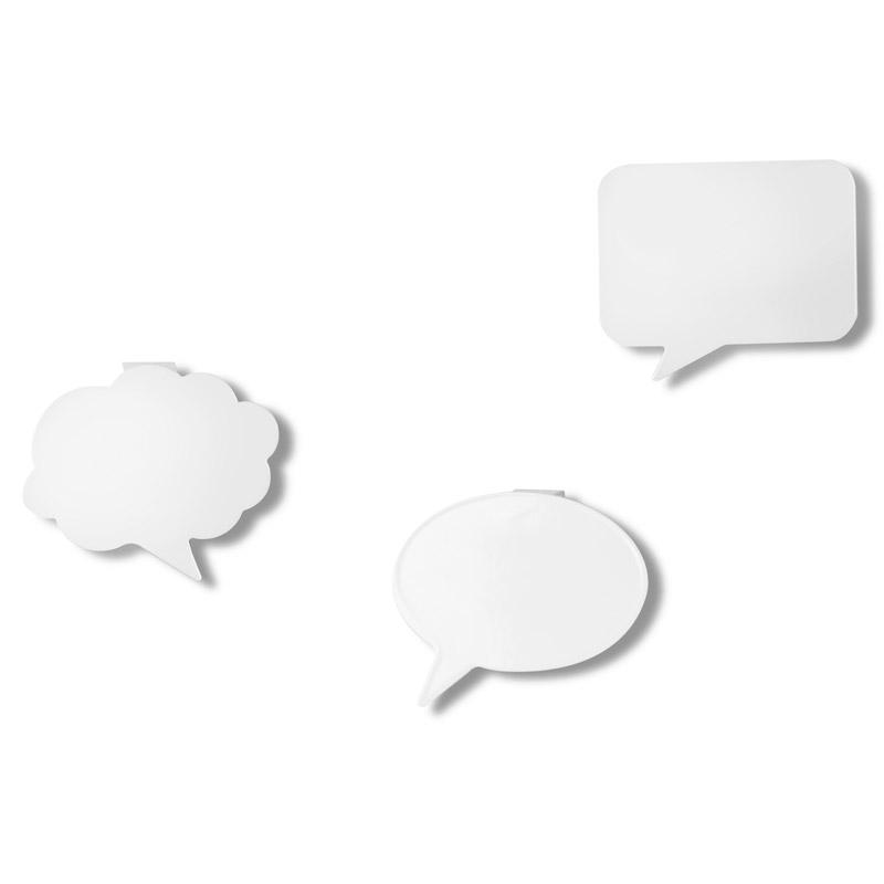 Крючки Talk bubble (3 шт)Вешалки<br>Крючки Talk bubble позволят, сохранит самые ценные моменты из Вашей жизни. Так же Вы можете  писать на самих крючках при помощи обычного маркера.<br>Прекрасный подарок для родных и друзей!<br><br>Material: Металл<br>Width см: 13,3<br>Depth см: 12<br>Height см: 10