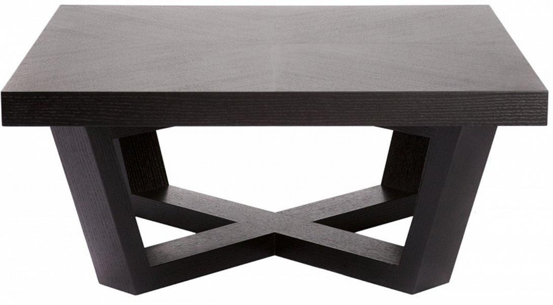 Журнальный столикЖурнальные столики<br>Этот элегантный квадратный журнальный стол, несмотря на свою простую форму, смотрится очень эффектно и стильно. Тон задает крестообразная подставка, усиливающая и повторяющая строгую геометричность форм. Благодаря этому, журнальный стол станет прекрасным дополнением практически любого интерьера.<br><br>Этот товар доступен в двух вариантах: oak anthracite и oak mocca<br><br>Material: Дерево<br>Length см: 80<br>Width см: 80<br>Height см: 35