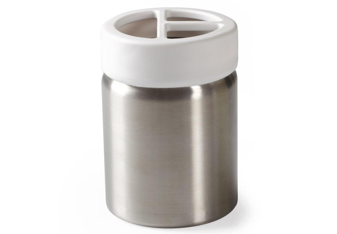 Подставка для зубных щеток EnsaАксессуары для ванной<br>Функциональность подставки для зубных щеток неоспорима - где же еще их хранить. А вот как насчет дизайна? В Umbra уверены: такой простой и ежедневно используемый предмет должен выглядеть лаконично, но необычно. Ведь в небольшой ванной комнате не должно быть ничего вызывающе яркого. Немного экспериментировав с формой, дизайнеры создали подставку Ensa, которая придется кстати в любом доме и вместит зубные щетки всех членов семьи и тюбик зубной пасты.<br><br>kit: None<br>gender: None