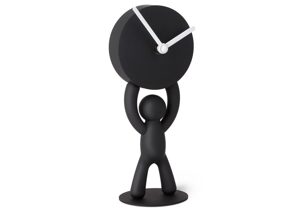 Часы настольные BuddyНастольные часы<br>Мальчуган Buddy теперь еще и показывает точное время.<br>Механизм  работает при помощи  обычных  батареек АА.&amp;amp;nbsp;&amp;lt;span style=&amp;quot;line-height: 1.78571;&amp;quot;&amp;gt;Кварцевый механизм.&amp;lt;/span&amp;gt;<br><br>Material: Пластик<br>Width см: 4<br>Depth см: 7,8<br>Height см: 21,5