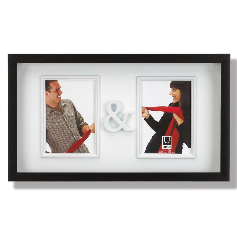 Рамка для двух фотографий You&amp;meРамки для фотографий<br>Замечательная фоторамка для влюбленных и не только. Вмещает две фотографии размером 13х18 см, соединенные символом &amp;amp;amp; — &amp;quot;и&amp;quot;. Оригинально впишется в ваш интерьер, украсив собой журнальный столик или стену в гостиной.<br><br>Material: Пластик<br>Width см: 47,8<br>Depth см: 2,8<br>Height см: 27,3