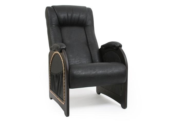 Кресло с карманамиКожаные кресла<br>Максимальная нагрузка: 150 кг.<br><br>Material: Кожа<br>Ширина см: 60<br>Высота см: 92<br>Глубина см: 92