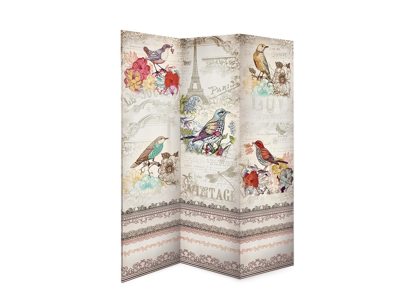 Ширма Vintage birdsШирмы<br>Односторонняя ширма из коллекции Catherine D&amp;quot;argent.&amp;lt;div&amp;gt;&amp;lt;br&amp;gt;&amp;lt;/div&amp;gt;&amp;lt;div&amp;gt;Материал: нетканный материал, пигментные краски.&amp;lt;br&amp;gt;&amp;lt;/div&amp;gt;<br><br>Material: Дерево<br>Width см: 150<br>Depth см: 7<br>Height см: 180