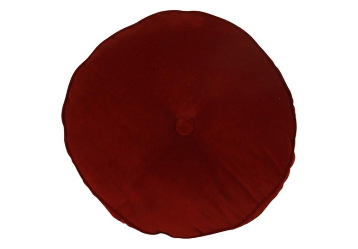 Круглая подушкаФигурные подушки<br>Круглая подушка красного цвета от датского бренда g&amp;amp;amp;c interiors. Добавьте яркий акцент на диване или кровати в классическом или фэшн интерьере.<br><br>Material: Текстиль<br>Width см: None<br>Height см: 10<br>Diameter см: 40