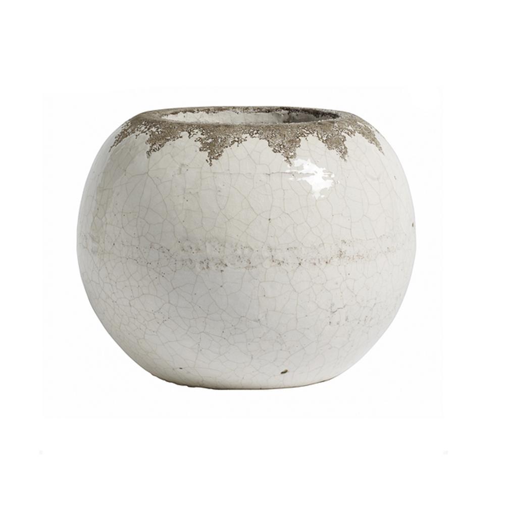 Кашпо для цветовКашпо<br>Белое круглое кашпо для цветов от датской компании nordal. Украсьте гостиную, спальню в скандинавском стиле.<br><br>Material: Керамика<br>Height см: 20<br>Diameter см: 26