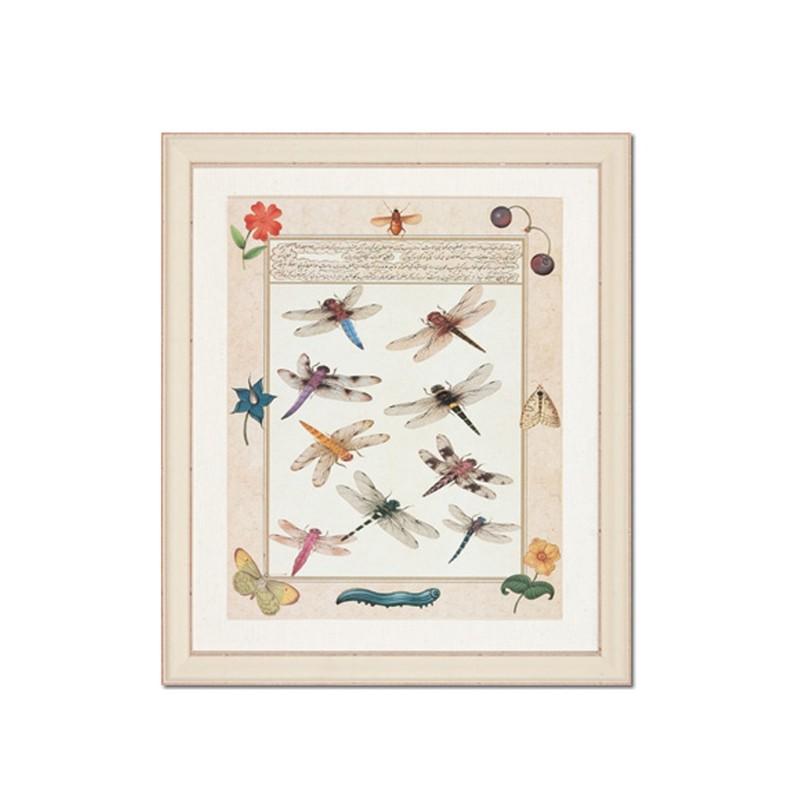 Картина Бабочки и стрекозыПостеры<br>Картина с рисунком бабочек и стрекоз от датского бренда g&amp;amp;amp;c interiors. Добавьте настроения в интерьере спальни, кабинета или гостиной в стиле эклектика.<br><br>Material: Бумага<br>Length см: None<br>Width см: 50<br>Depth см: 3<br>Height см: 60