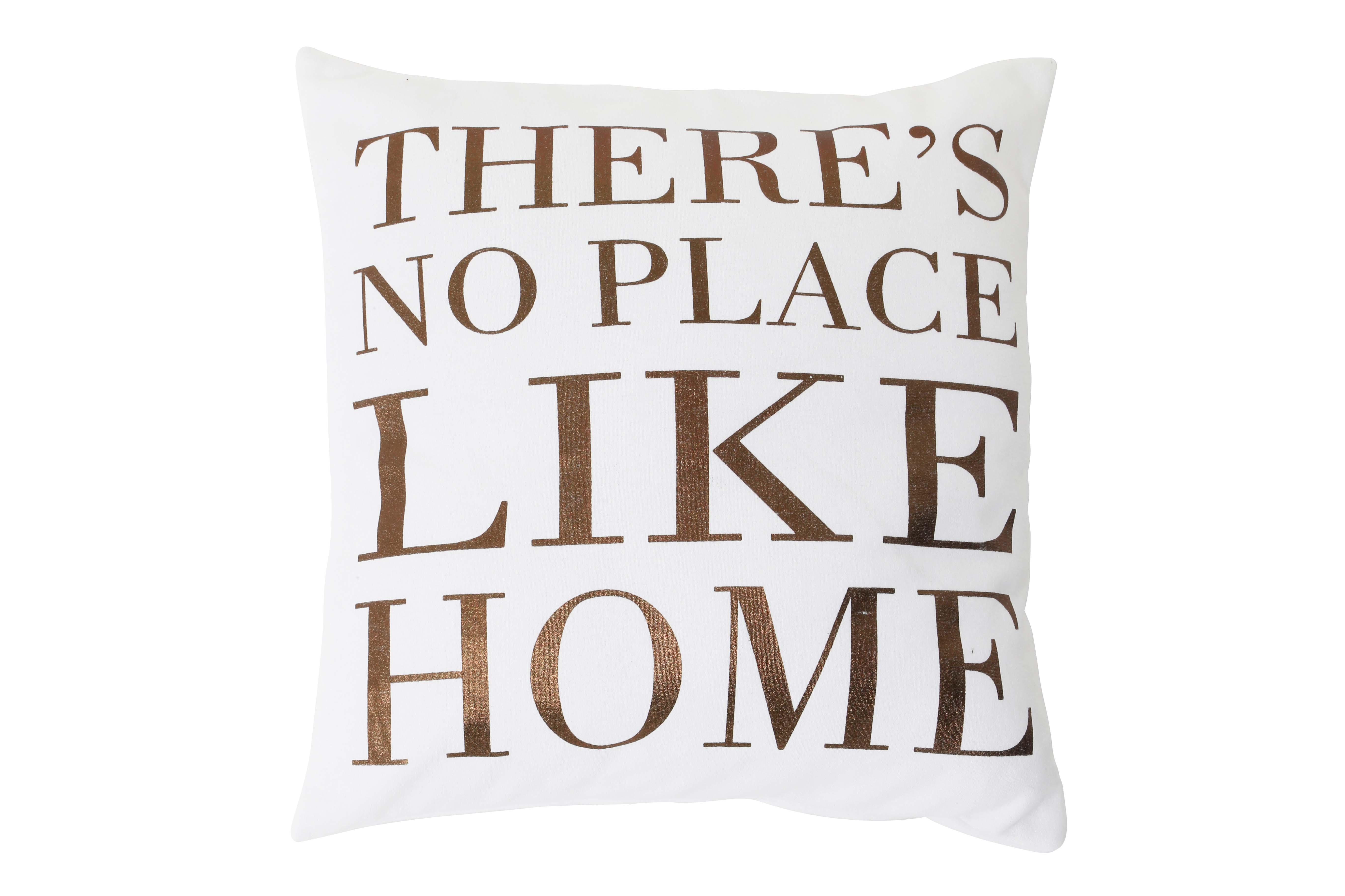 Подушка PlaceКвадратные подушки<br>Декоративная подушка в белой наволочке с надписью &amp;quot;нет места лучше дома&amp;quot; от голландского бренда light &amp;amp;amp; living. Стильно будет смотреться и добавит яркий акцент на диване или кровати.<br><br>Material: Текстиль<br>Width см: 50<br>Depth см: 10<br>Height см: 50