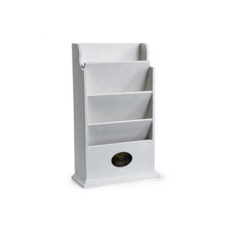 Полка для документовПолки<br>Практичная полка для документов белого цвета. С ней в вашем кабинете или гостиной будет всегда порядок.<br><br>Material: Дерево<br>Width см: 27<br>Depth см: 10<br>Height см: 47