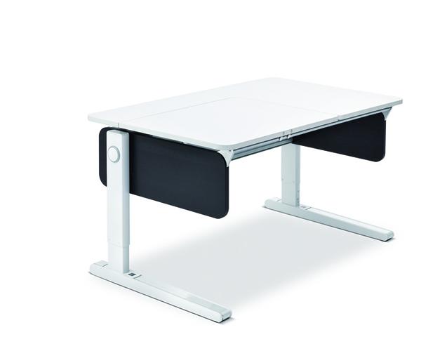 Стол Champion Left-UpДетские письменные столики<br>&amp;lt;div&amp;gt;Для производства детского письменного стола-трансформера Champion Left-Up используется экологически безопасная ЛДСП класса Е1 толщиной 19 мм. Модель представлена в белом цвете. Отличительная особенность изделия – столешница (120х72 см), которая разделена на функциональные зоны. Ее регулируемая часть располагается с левой стороны. Такое размещение зон эргономично для детей правшей. На стационарной части столешницы ребенок сможет с удобством расположить книги, тетради, подставку для канцелярских принадлежностей или настольную лампу. Благодаря новому запатентованному механизму поднимаемая до 20 градусов часть столешницы регулируется по высоте плавно и легко. При этом необходимый угол остается прочно зафиксированным в нужном положении, что исключает риск возникновения у ребенка травм. Технологический зазор между регулируемой и стационарной частями поверхности отсутствует, обе стороны примыкают друг к другу вплотную при опущенной столешнице. В задней части стола Молл предусмотрен кабель-канал – в него можно спрятать провода от компьютерных устройств, с которыми работает ребенок. Стандартная комплектация изделия включает пластиковую магнитную линейку, которая также является барьером для соскальзывания предметов при поднятой столешнице, и бокс с декоративными цветными лентами и заглушками в 8 различных цветах. Стол-трансформер дополняется инновационной складной подставкой для книг – ее удобно брать с собой в школу.&amp;lt;/div&amp;gt;&amp;lt;div&amp;gt;&amp;lt;br&amp;gt;&amp;lt;/div&amp;gt;&amp;lt;div&amp;gt;Стол Champion регулируется по высоте от 53 до 82 см. Изделие подходит для детей ростом от 109 см. Размеры регулируемой части столешницы составляют 69х52 см. Опорная – Comfort.&amp;amp;nbsp;&amp;lt;/div&amp;gt;&amp;lt;div&amp;gt;Цвет: черный ясень&amp;lt;/div&amp;gt;&amp;lt;div&amp;gt;&amp;lt;br&amp;gt;&amp;lt;/div&amp;gt;&amp;lt;div&amp;gt;Поставка: в разобранном виде, инструкция по сборке прилагаетс