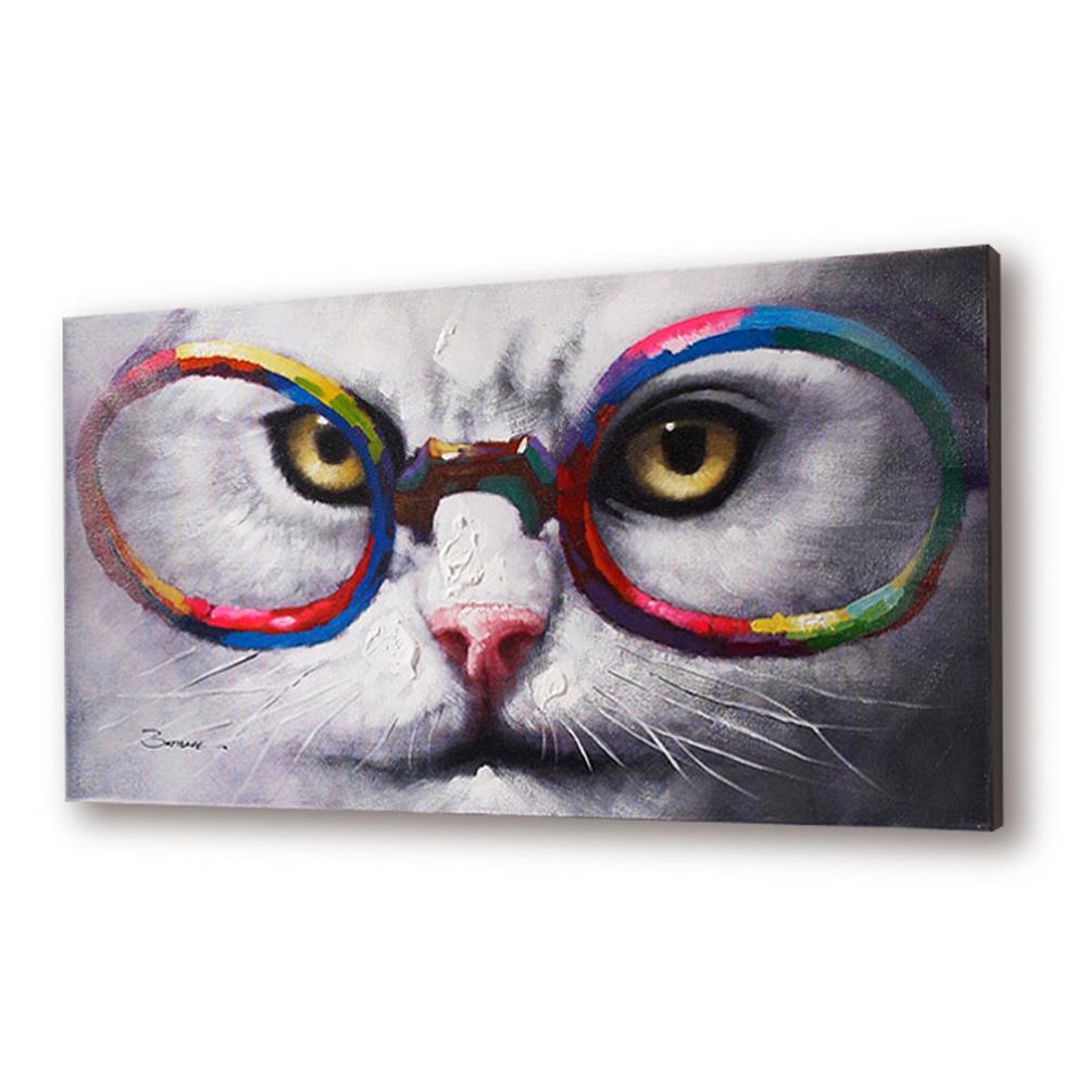 Декоративное панноПанно<br>Декоративное панно с рисунком &amp;quot;кот в очках&amp;quot; акриловыми красками.<br><br>Material: Пластик<br>Width см: 120<br>Depth см: 4<br>Height см: 60