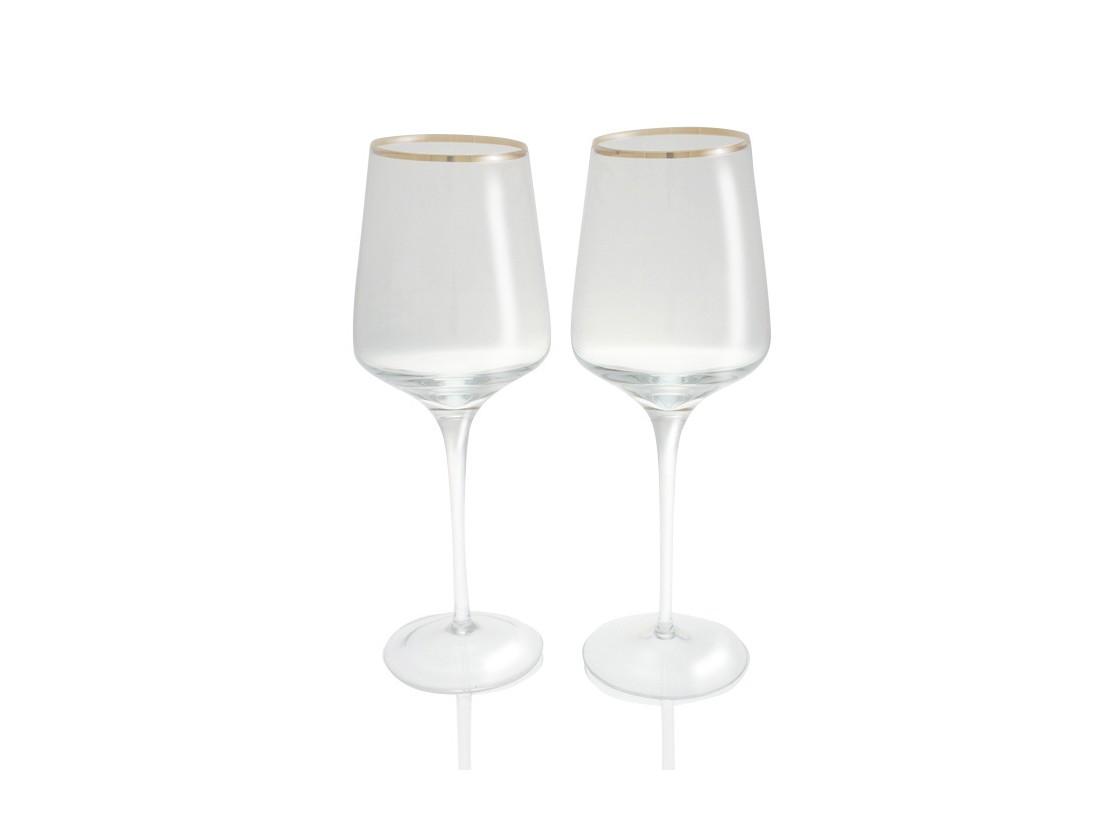 Набор бокаловБокалы<br>Бокалы для белого вина Сeline из прозрачного выдувного стекла с золотой окантовкой.&amp;lt;div&amp;gt;&amp;lt;br&amp;gt;&amp;lt;/div&amp;gt;&amp;lt;div&amp;gt;Комплект состоит из двух бокалов&amp;lt;/div&amp;gt;<br><br>Material: Стекло<br>Height см: 25<br>Diameter см: 10