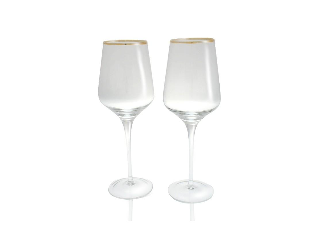 Набор бокаловБокалы<br>Бокалы для красного вина Сeline из прозрачного выдувного стекла с золотой окантовкой.&amp;lt;div&amp;gt;&amp;lt;br&amp;gt;&amp;lt;/div&amp;gt;&amp;lt;div&amp;gt;В комплекте находятся два бокала&amp;lt;/div&amp;gt;<br><br>Material: Стекло<br>Height см: 27<br>Diameter см: 11