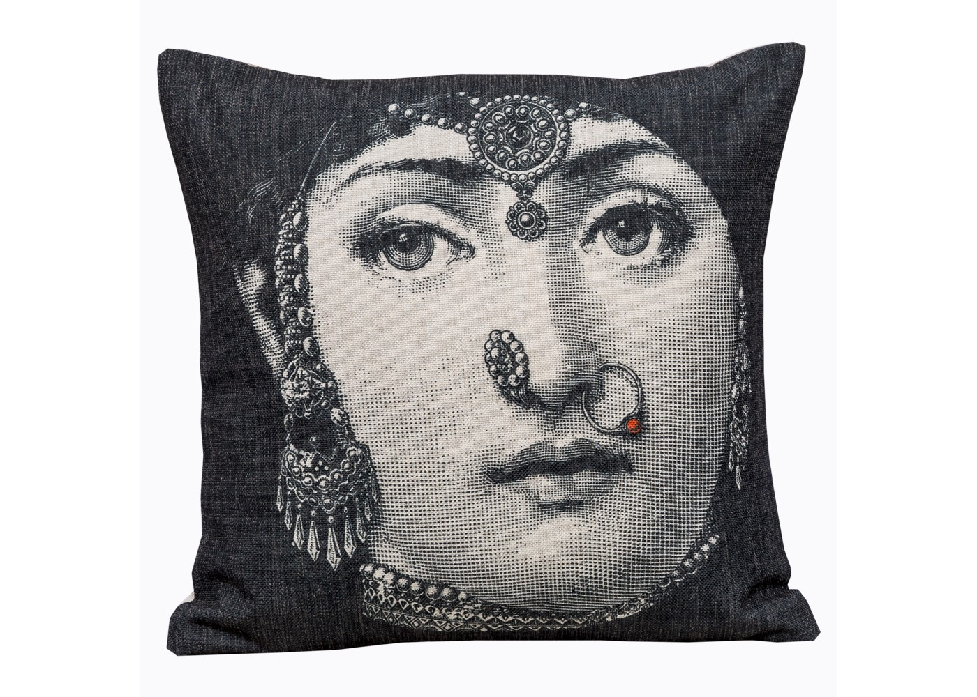 Арт-подушка лина , версия индия (object desire) черный 45.0x15.0x15 см. фото