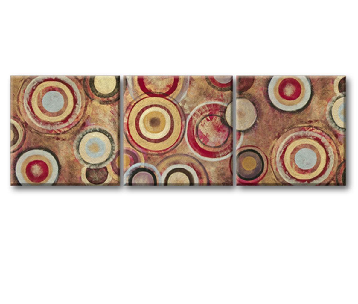 Картина Круги жизниКартины<br>Модульная картина из 3-х частей 45х45см с декоративной фактурной обработкой&amp;lt;div&amp;gt;&amp;lt;br&amp;gt;&amp;lt;/div&amp;gt;&amp;lt;div&amp;gt;Материал: натуральный холст, деревянный подрамник, лак,итальянский фактурный гель&amp;lt;br&amp;gt;&amp;lt;/div&amp;gt;<br><br>Material: Холст<br>Width см: 140<br>Depth см: 3<br>Height см: 45