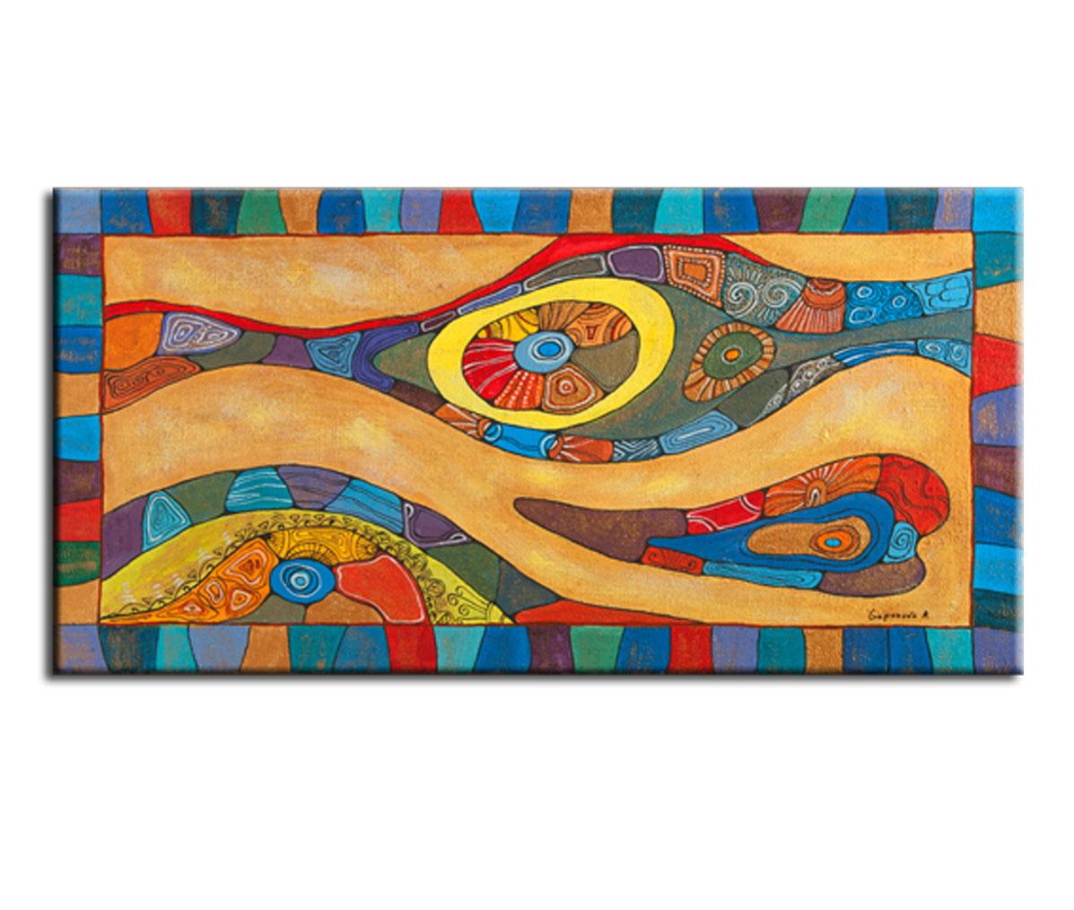 Картина ORNAMENTOКартины<br>Авторская копия картины художницы Анны Гапоновой с декоративной фактурной обработкой&amp;lt;div&amp;gt;&amp;lt;br&amp;gt;&amp;lt;/div&amp;gt;&amp;lt;div&amp;gt;Материал: натуральный холст, деревянный подрамник, лак,итальянский фактурный гель&amp;lt;br&amp;gt;&amp;lt;/div&amp;gt;<br><br>Material: Холст<br>Width см: 105<br>Depth см: 3<br>Height см: 50