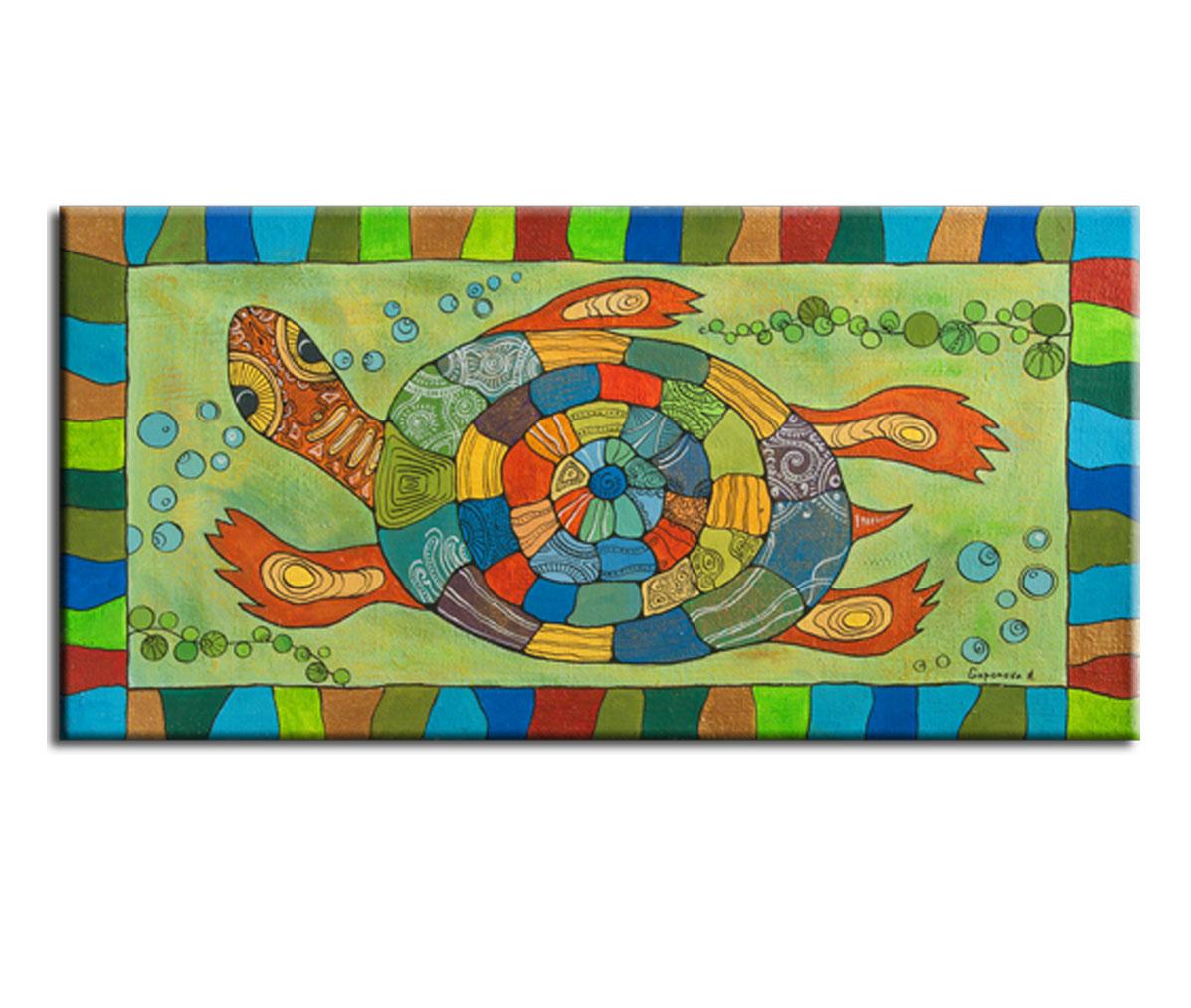 Картина ЧерепахаКартины<br>Авторская копия картины художницы Анны Гапоновой с декоративной фактурной обработкой&amp;lt;div&amp;gt;&amp;lt;br&amp;gt;&amp;lt;/div&amp;gt;&amp;lt;div&amp;gt;Материал: натуральный холст, деревянный подрамник, лак,итальянский фактурный гель&amp;lt;br&amp;gt;&amp;lt;/div&amp;gt;&amp;lt;div&amp;gt;&amp;lt;br&amp;gt;&amp;lt;/div&amp;gt;<br><br>Material: Холст<br>Width см: 105<br>Depth см: 3<br>Height см: 50