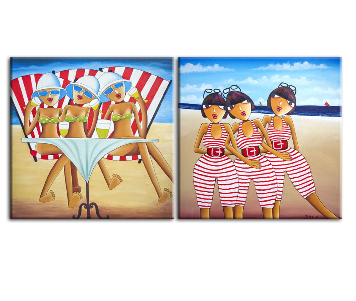 Картина Пляжный диптихКартины<br>Авторская копия картины балийского художника Krisna с декоративной фактурной обработкой, состоит из 2-х частей 35х35см&amp;lt;div&amp;gt;&amp;lt;br&amp;gt;&amp;lt;/div&amp;gt;&amp;lt;div&amp;gt;Материал: натуральный холст, деревянный подрамник, лак,итальянский фактурный гель&amp;lt;br&amp;gt;&amp;lt;/div&amp;gt;<br><br>Material: Холст<br>Width см: 70<br>Depth см: 3<br>Height см: 35