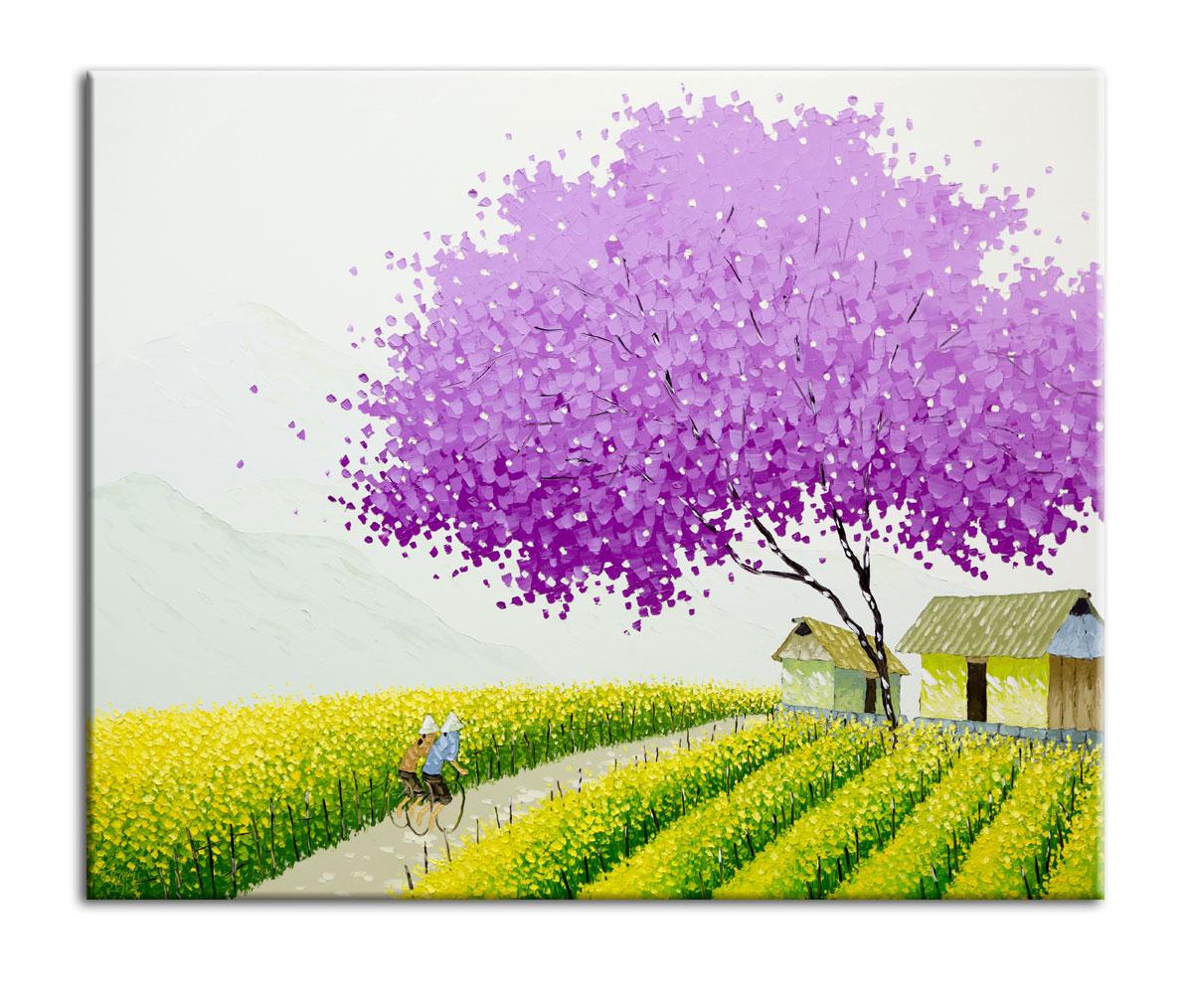 Картина Рапс в цветуКартины<br>Авторская копия картины вьетнамской художницы Phan Thu Trang в технике жекле&amp;lt;div&amp;gt;&amp;lt;br&amp;gt;&amp;lt;/div&amp;gt;&amp;lt;div&amp;gt;Материал: натуральный холст, деревянный подрамник, лак,итальянский фактурный гель&amp;lt;br&amp;gt;&amp;lt;/div&amp;gt;<br><br>Material: Холст<br>Width см: 50<br>Depth см: 3<br>Height см: 50