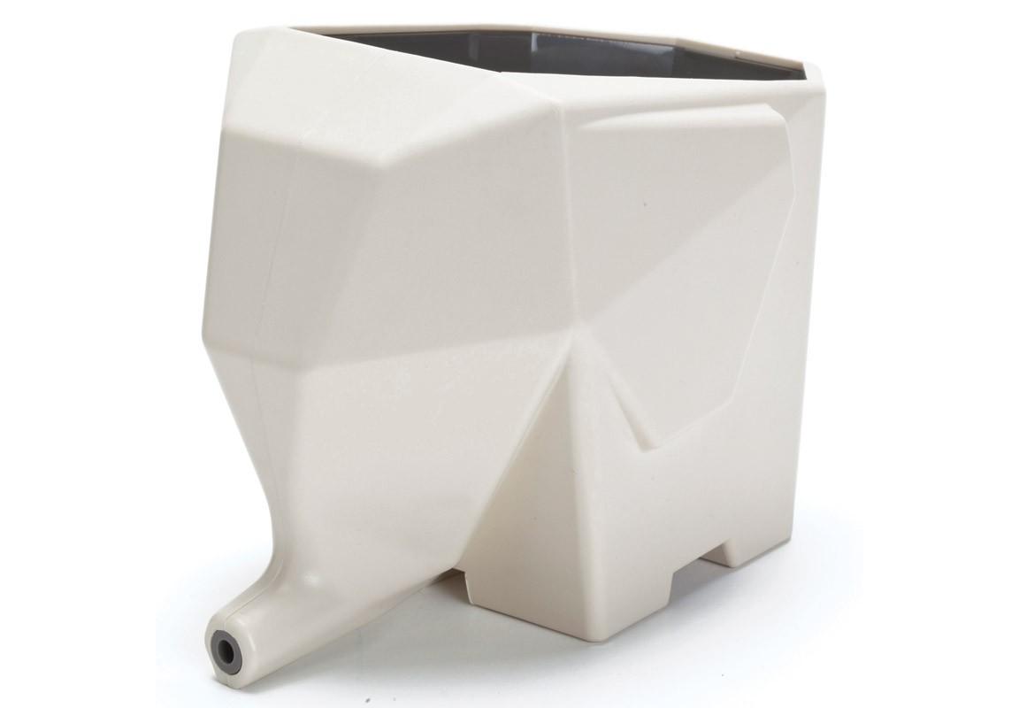 Сушилка для столовых приборов JumboАксессуары для кухни<br>Есть такое выражение слон в посудной лавке и ничего хорошего оно не подразумевает, но мы решили изменить ситуацию. По крайней мере, ручаемся, что со столовыми приборами наш слоник обращается бережно. Сложите внутрь после мытья вилки, ложки и ножи и поставьте сушилку так, чтобы её нос  был над раковиной. Вода, стекая с приборов, будет уходит через хобот слона.Чисто, гигиенично и симпатично!<br><br>kit: None<br>gender: None