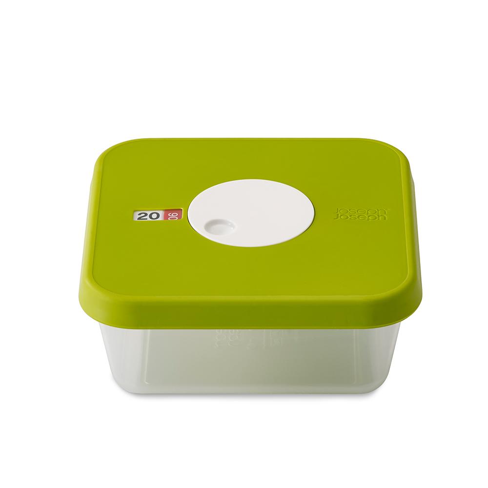 Датируемый контейнер для хранения продуктов DialЕмкости для хранения<br>Квадратный контейнер для хранения продуктов  объемом 1,2 литра. Идеально подходит для хранения мяса, салатов, фруктов. Инновационная система датировки позволяет контролировать свежесть продуктов, планировать рацион и уменьшать количество отходов.  Просто поверните циферблат по часовой стрелке для выставления даты и против часовой даты – для указания месяца.  Контейнер не содержит вредный  Бисфенол А, благодаря чему его можно безопасно разогревать в микроволновой печи.&amp;lt;div&amp;gt;&amp;lt;br&amp;gt;&amp;lt;/div&amp;gt;&amp;lt;div&amp;gt;Объем: 1.2 л.&amp;lt;br&amp;gt;&amp;lt;/div&amp;gt;<br><br>Material: Пластик<br>Length см: 17,2<br>Width см: 17,2<br>Depth см: None<br>Height см: 7,2