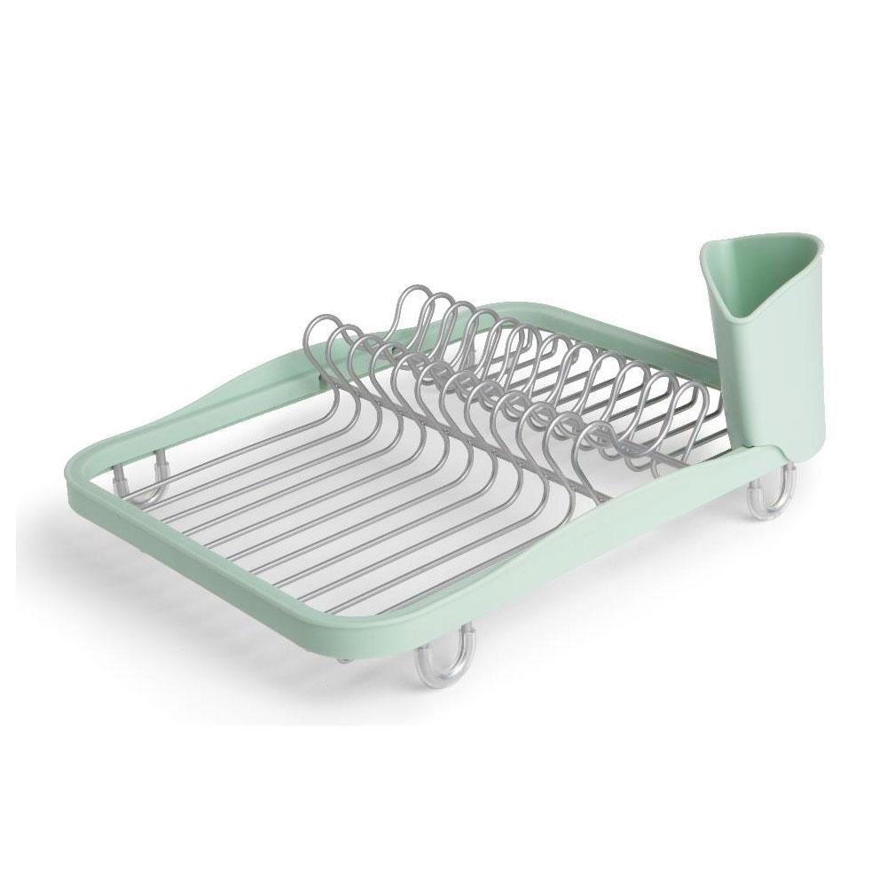 Сушилка для посуды Sinkin dishАксессуары для кухни<br>Простота, функциональность и удобный дизайн - вот отличительные особенности этой сушилки для посуды. Сочетание металла и пластика в единой конструкции делает её мобильной, а также позволяет легко чистить. Отсеки для тарелок, чашек и столовых приборов приподняты на ножках, чтобы вода не застаивалась под ними.<br><br>Material: Пластик<br>Length см: 35<br>Width см: 26<br>Height см: 9