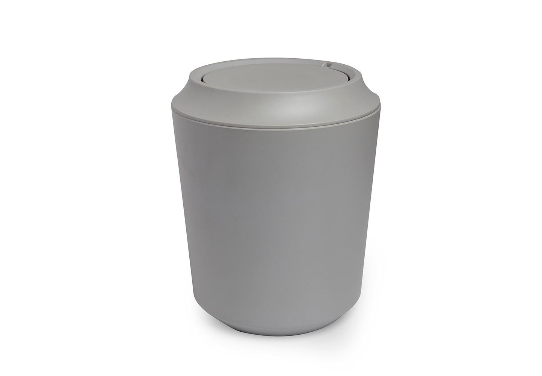 Корзина для мусора FibooЕмкости для хранения<br>Корзина для мусора из комбинированного материала (меламин и бамбуковое волокно), который отличает экологичность, износостойкость и уникальный матовый эффект. Удобная вращающаяся крышка легко снимается для смены пакета для мусора.<br><br>Дизайн: Wesley Chau<br><br>Material: Пластик<br>Height см: 24,9<br>Diameter см: 20,3