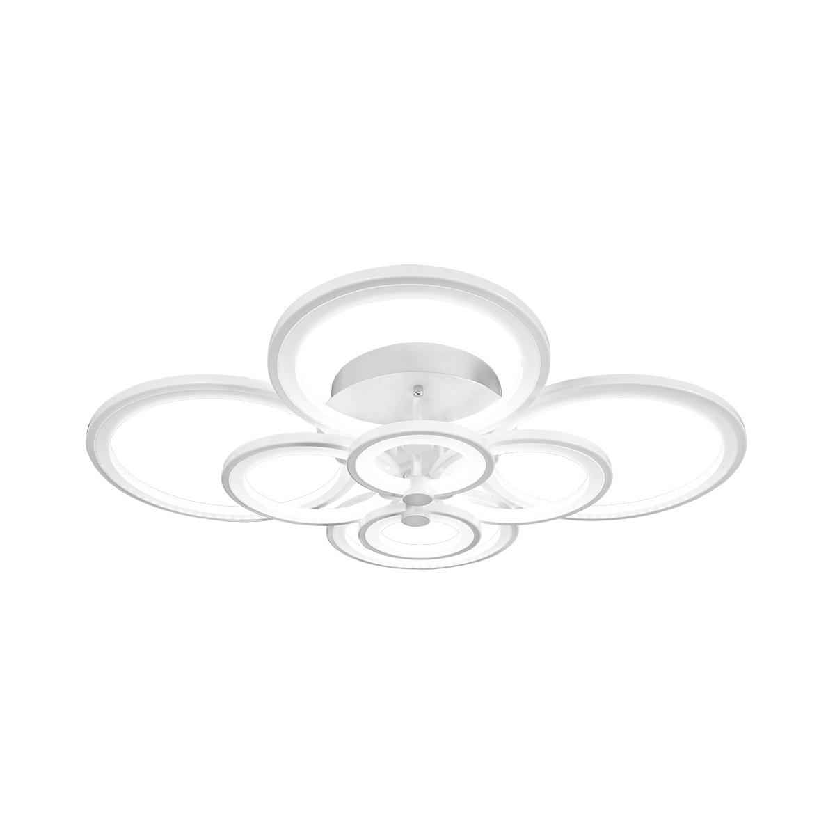 Светильник потолочный FedericaЛюстры потолочные<br>Светодиодный потолочный светильник Federica 388/8A-White IDLAMP, в стиле Хай-Тек, цвет арматуры Белый. Светильник со встроенной светодиодной матрицей общей мощностью 102 W (Эквивалент лампы накаливания 714 W). Цветовая температура 4000-4200К. <br>Светильник поставляется в собранном виде и имеет в комплекте все необходимые для монтажа крепежные элементы.&amp;lt;div&amp;gt;&amp;lt;br&amp;gt;&amp;lt;/div&amp;gt;&amp;lt;div&amp;gt;&amp;lt;div&amp;gt;Цоколь: LED&amp;lt;/div&amp;gt;&amp;lt;div&amp;gt;Мощность лампы: 102W&amp;lt;/div&amp;gt;&amp;lt;div&amp;gt;Количество ламп: 8&amp;lt;/div&amp;gt;&amp;lt;/div&amp;gt;<br><br>Material: Металл<br>Width см: 103<br>Depth см: 86<br>Height см: 21