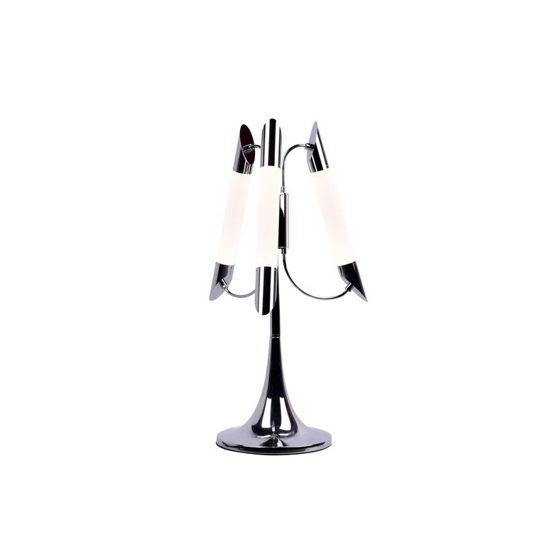 Настольные лампы MiladaДекоративные лампы<br>Настольная лампа в стиле Мегаполис. Лампа со встроенной светодиодной матрицей общей мощностью 18W (Эквивалент лампы накаливания 180 W). Цветовая температура 4000-4200К. <br>Лампа поставляется в собранном виде и имеет в комплекте все необходимые для монтажа крепежные элементы.&amp;lt;div&amp;gt;&amp;lt;br&amp;gt;&amp;lt;/div&amp;gt;&amp;lt;div&amp;gt;&amp;lt;div&amp;gt;Цоколь: LED&amp;lt;/div&amp;gt;&amp;lt;div&amp;gt;Мощность лампы: 18W&amp;lt;/div&amp;gt;&amp;lt;div&amp;gt;Количество ламп: 3&amp;lt;/div&amp;gt;&amp;lt;/div&amp;gt;<br><br>Material: Металл<br>Height см: 56<br>Diameter см: 35