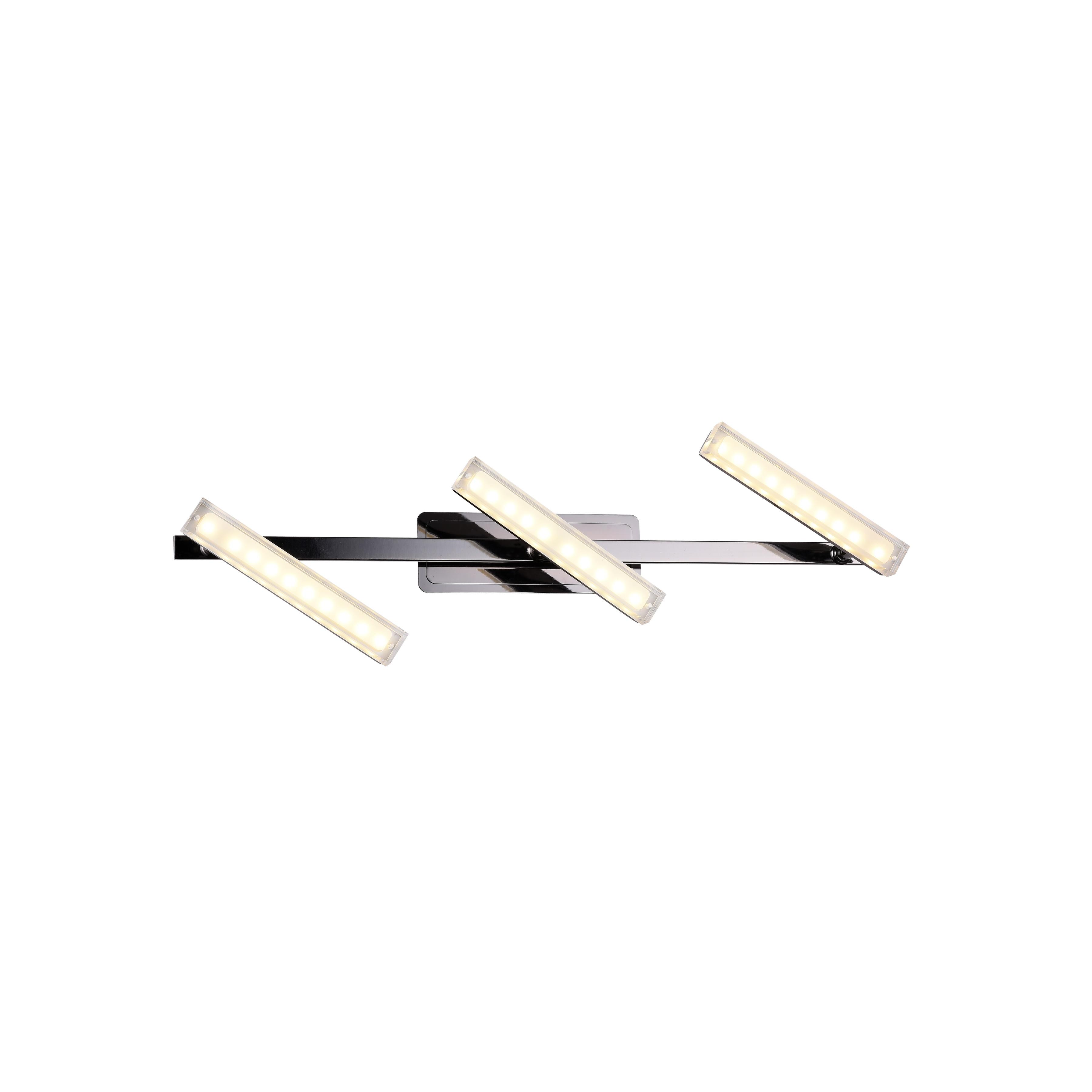 Спот RobertaСпоты<br>Светодиодный спот в стиле Хай-Тек. Спот с акриловыми плафонами со встроенной светодиодной матрицей мощностью 15 W (Эквивалент лампы накаливания 100W). Цветовая температура 3000-3200К. <br>Спот  Roberta Black снабжен шарнирным механизмом, позволяющий менять направление освещения. Спот имеет металлический выключатель на корпусе.<br>Спот поставляется в собранном виде и имеет в комплекте все необходимые для монтажа крепежные элементы.&amp;lt;div&amp;gt;&amp;lt;br&amp;gt;&amp;lt;/div&amp;gt;&amp;lt;div&amp;gt;&amp;lt;div&amp;gt;Цоколь: LED&amp;lt;/div&amp;gt;&amp;lt;div&amp;gt;Мощность лампы: 15W&amp;lt;/div&amp;gt;&amp;lt;div&amp;gt;Количество ламп: 3&amp;lt;/div&amp;gt;&amp;lt;/div&amp;gt;<br><br>Material: Металл<br>Width см: 64<br>Depth см: 11,8<br>Height см: 11,4