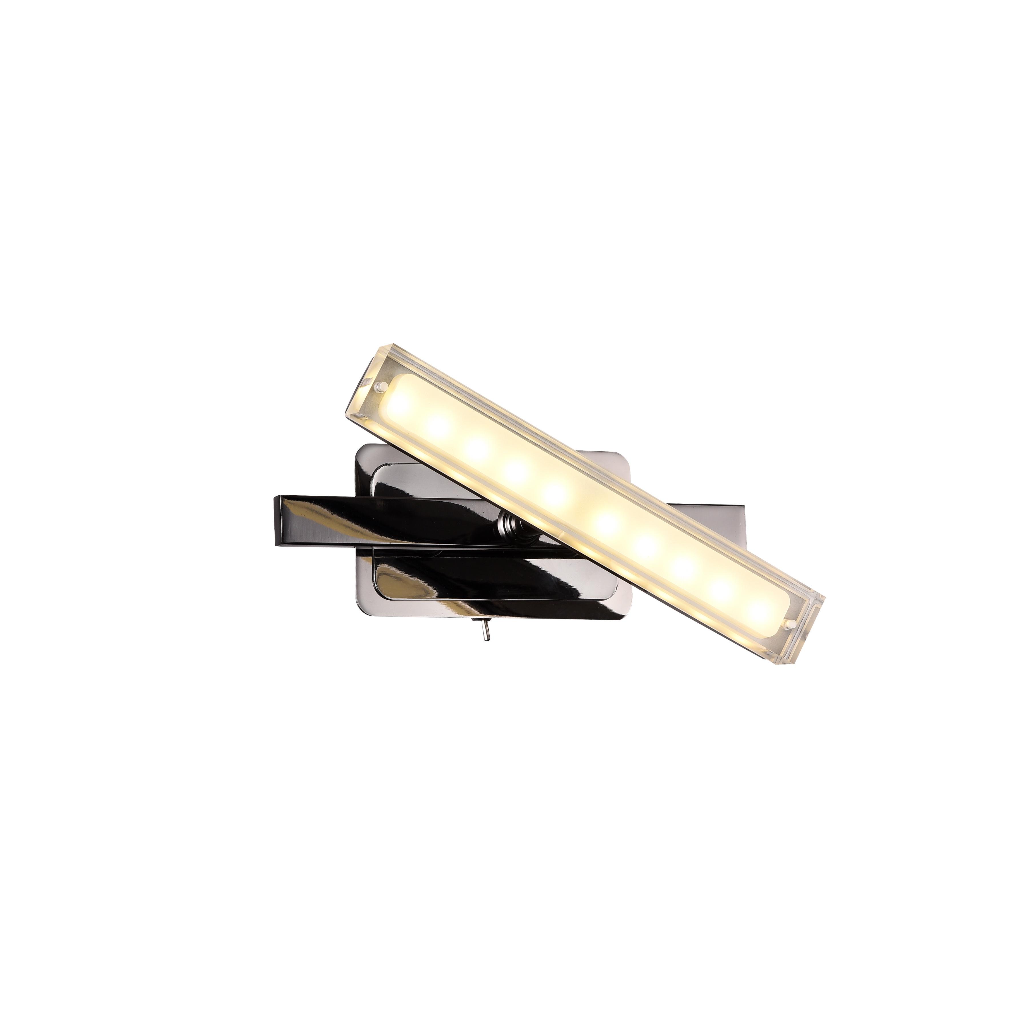 Спот RobertaСпоты<br>Светодиодный спот в стиле Хай-Тек. Спот с акриловым плафоном со встроенной светодиодной матрицей мощностью 5 W (Эквивалент лампы накаливания 33W). Цветовая температура 3000-3200К. <br>Спот  Roberta Black снабжен шарнирным механизмом, позволяющий менять направление освещения. Спот имеет металлический выключатель на корпусе.<br>Спот поставляется в собранном виде и имеет в комплекте все необходимые для монтажа крепежные элементы.&amp;lt;div&amp;gt;&amp;lt;br&amp;gt;&amp;lt;/div&amp;gt;&amp;lt;div&amp;gt;&amp;lt;div&amp;gt;Цоколь: LED&amp;lt;/div&amp;gt;&amp;lt;div&amp;gt;Мощность лампы: 5W&amp;lt;/div&amp;gt;&amp;lt;div&amp;gt;Количество ламп: 1&amp;lt;/div&amp;gt;&amp;lt;/div&amp;gt;<br><br>Material: Металл<br>Width см: 20<br>Depth см: 11,8<br>Height см: 11,4