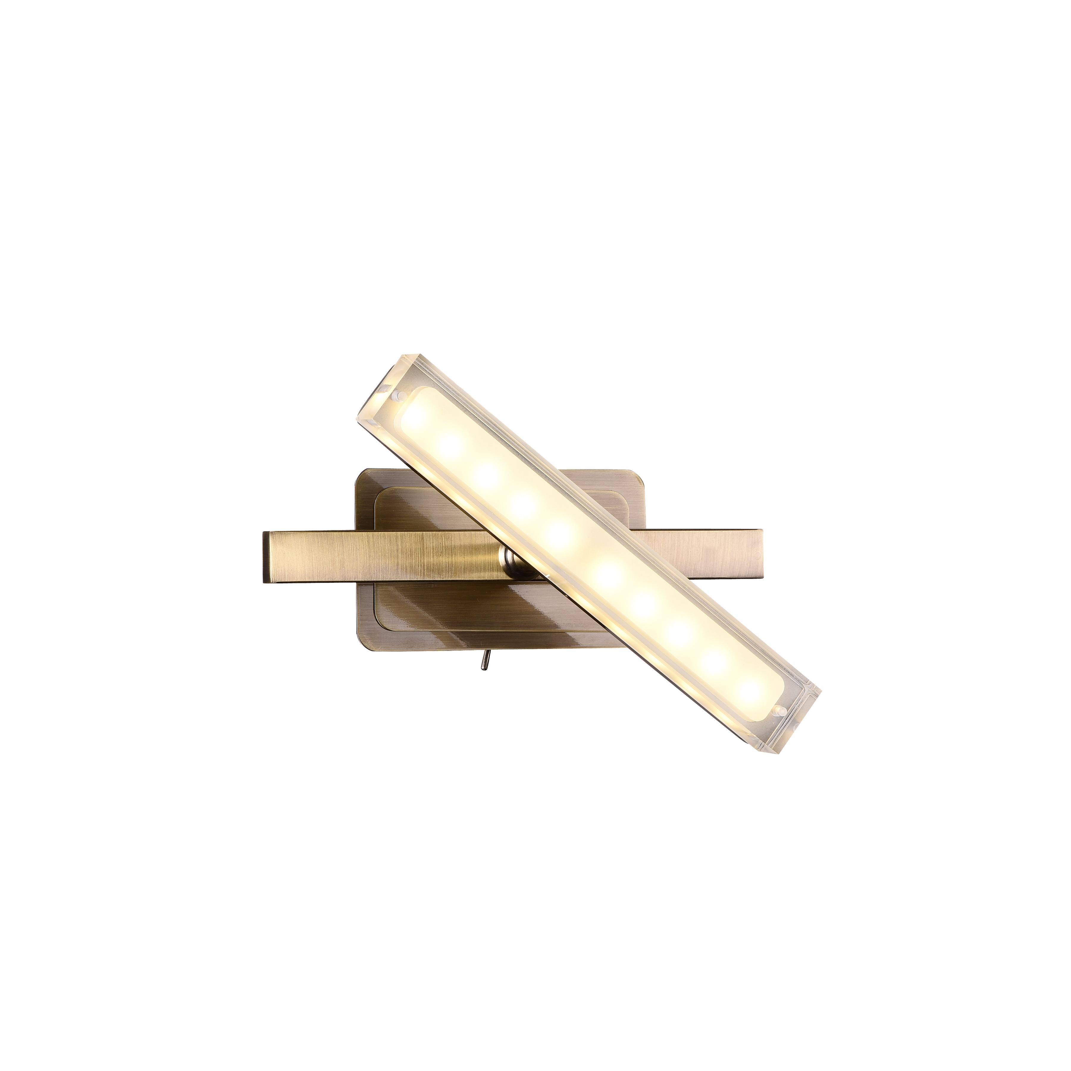 Спот RobertaСпоты<br>Светодиодный спот в стиле Хай-Тек. Спот с акриловым плафоном со встроенной светодиодной матрицей мощностью 5 W (Эквивалент лампы накаливания 33W). Цветовая температура 3000-3200К. <br>Спот  Roberta OldBronze снабжен шарнирным механизмом, позволяющий менять направление освещения. Спот имеет металлический выключатель на корпусе.<br>Спот поставляется в собранном виде и имеет в комплекте все необходимые для монтажа крепежные элементы.&amp;lt;div&amp;gt;&amp;lt;br&amp;gt;&amp;lt;/div&amp;gt;&amp;lt;div&amp;gt;&amp;lt;div&amp;gt;Цоколь: LED&amp;lt;/div&amp;gt;&amp;lt;div&amp;gt;Мощность лампы: 5W&amp;lt;/div&amp;gt;&amp;lt;div&amp;gt;Количество ламп: 1&amp;lt;/div&amp;gt;&amp;lt;/div&amp;gt;<br><br>Material: Металл<br>Width см: 20<br>Depth см: 11,8<br>Height см: 11,4
