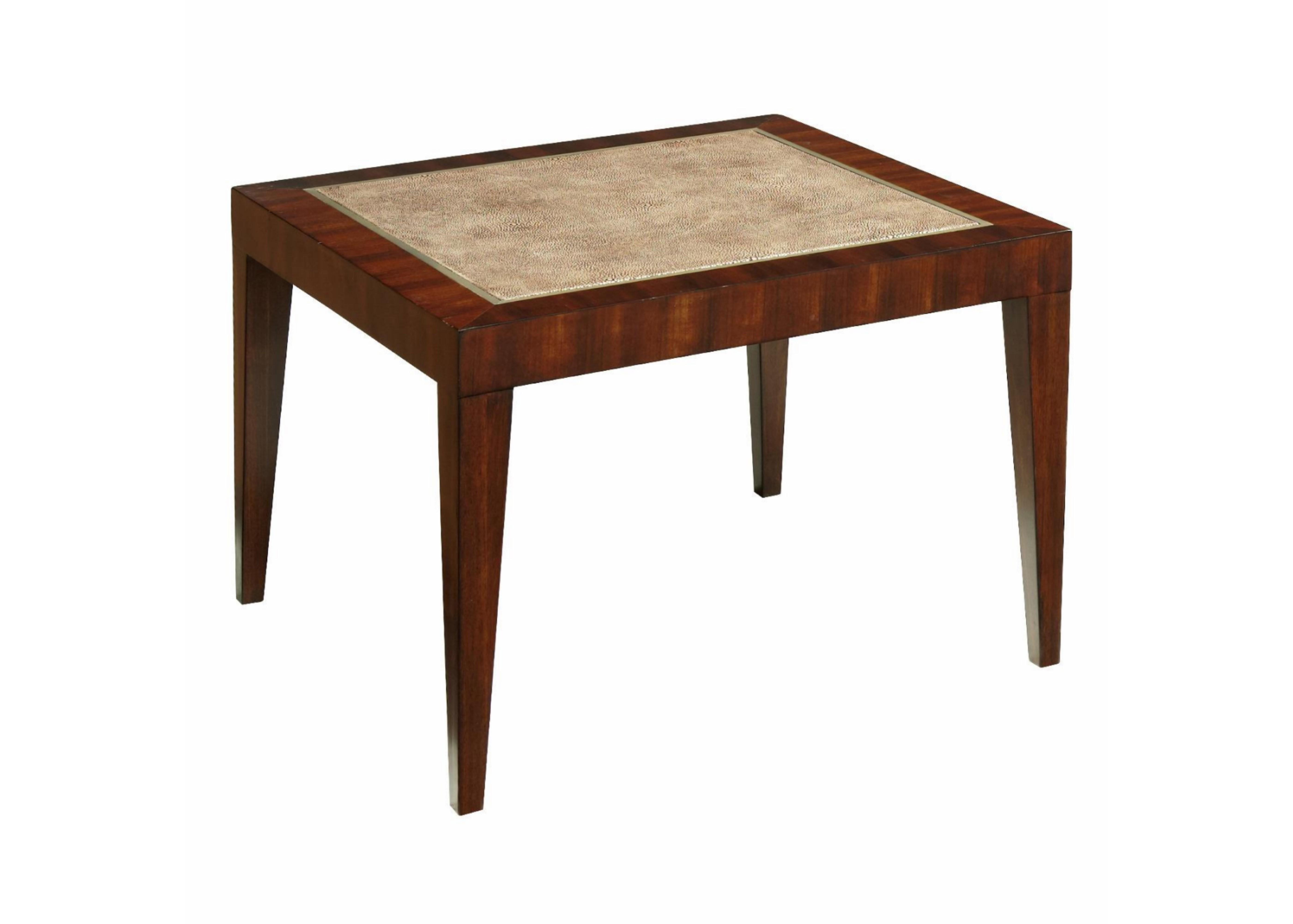 Стол под лампуЖурнальные столики<br>Поверхность - отделка кожей ската.<br><br>Material: Дерево<br>Width см: 56<br>Depth см: 56<br>Height см: 38