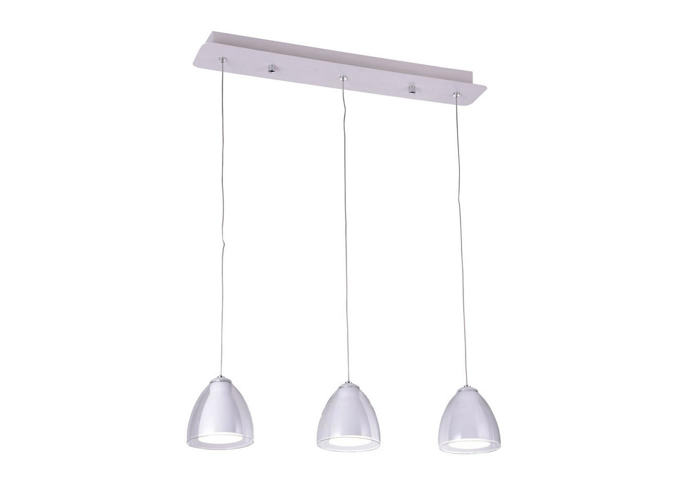 Светильник подвесной MirellaПодвесные светильники<br>Светодиодный подвесной светильник в стиле Хай-Тек. Светильник со встроенной светодиодной матрицей общей мощностью 9W (Эквивалент лампы накаливания 60 W). Цветовая температура 4000-4200К. <br>Высоту подвеса светильника можно регулировать от 20см до 100см.<br>Светильник поставляется в собранном виде и имеет в комплекте все необходимые для монтажа крепежные элементы.&amp;lt;div&amp;gt;&amp;lt;br&amp;gt;&amp;lt;/div&amp;gt;&amp;lt;div&amp;gt;&amp;lt;div&amp;gt;Цоколь: LED&amp;lt;/div&amp;gt;&amp;lt;div&amp;gt;Мощность лампы: 9W&amp;lt;/div&amp;gt;&amp;lt;div&amp;gt;Количество ламп: 3&amp;lt;/div&amp;gt;&amp;lt;/div&amp;gt;<br><br>Material: Металл<br>Ширина см: 60<br>Высота см: 100<br>Глубина см: 10