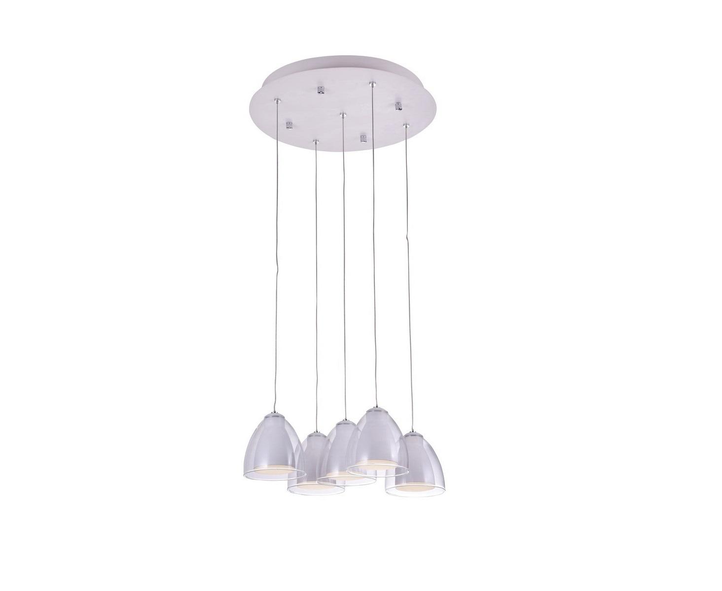 Подвесной светильник MirellaПодвесные светильники<br>Светодиодный подвесной светильник в стиле Хай-Тек. Светильник со встроенной светодиодной матрицей общей мощностью 15W (Эквивалент лампы накаливания 100 W). Цветовая температура 4000-4200К. <br>Высоту подвеса светильника можно регулировать от 20см до 100см.<br>Светильник поставляется в собранном виде и имеет в комплекте все необходимые для монтажа крепежные элементы.&amp;lt;div&amp;gt;&amp;lt;br&amp;gt;&amp;lt;/div&amp;gt;&amp;lt;div&amp;gt;&amp;lt;div&amp;gt;Цоколь: LED&amp;lt;/div&amp;gt;&amp;lt;div&amp;gt;Мощность лампы: 15W&amp;lt;/div&amp;gt;&amp;lt;div&amp;gt;Количество ламп: 5&amp;lt;/div&amp;gt;&amp;lt;/div&amp;gt;<br><br>Material: Металл<br>Height см: 100<br>Diameter см: 40