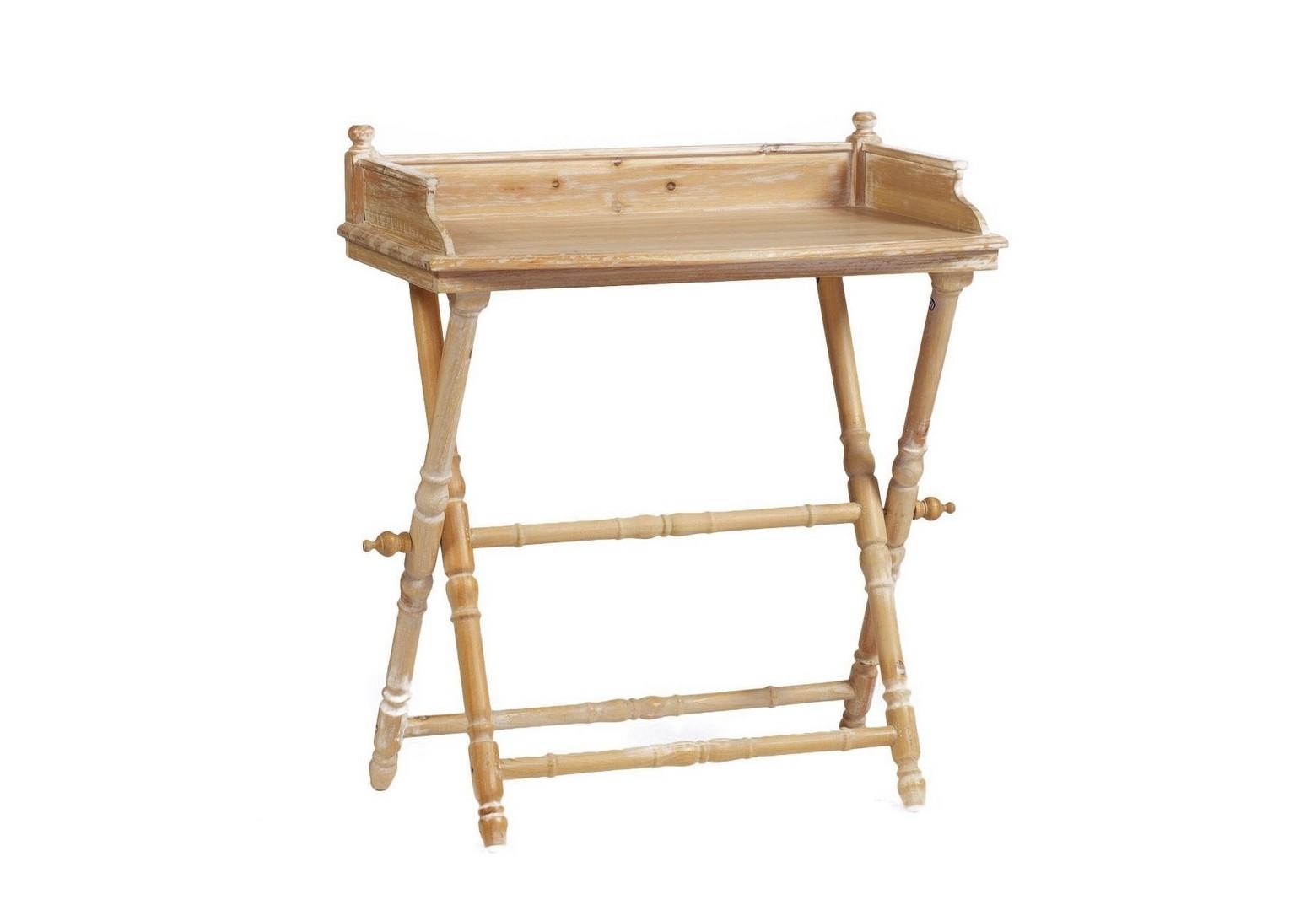 Складной столик MirabelСервировочные столики<br>Складной столик Mirabel – это настоящая находка для ценителей практичных и красивых вещей. В сложенном виде предмет мебели занимает мало места, поэтому его удобно хранить в любом углу или шкафу. Идеальное приобретение для любителей романтических завтраков в постель.<br><br>Material: Дерево<br>Length см: 68.0<br>Width см: 40.0<br>Depth см: None<br>Height см: 77.0<br>Diameter см: None