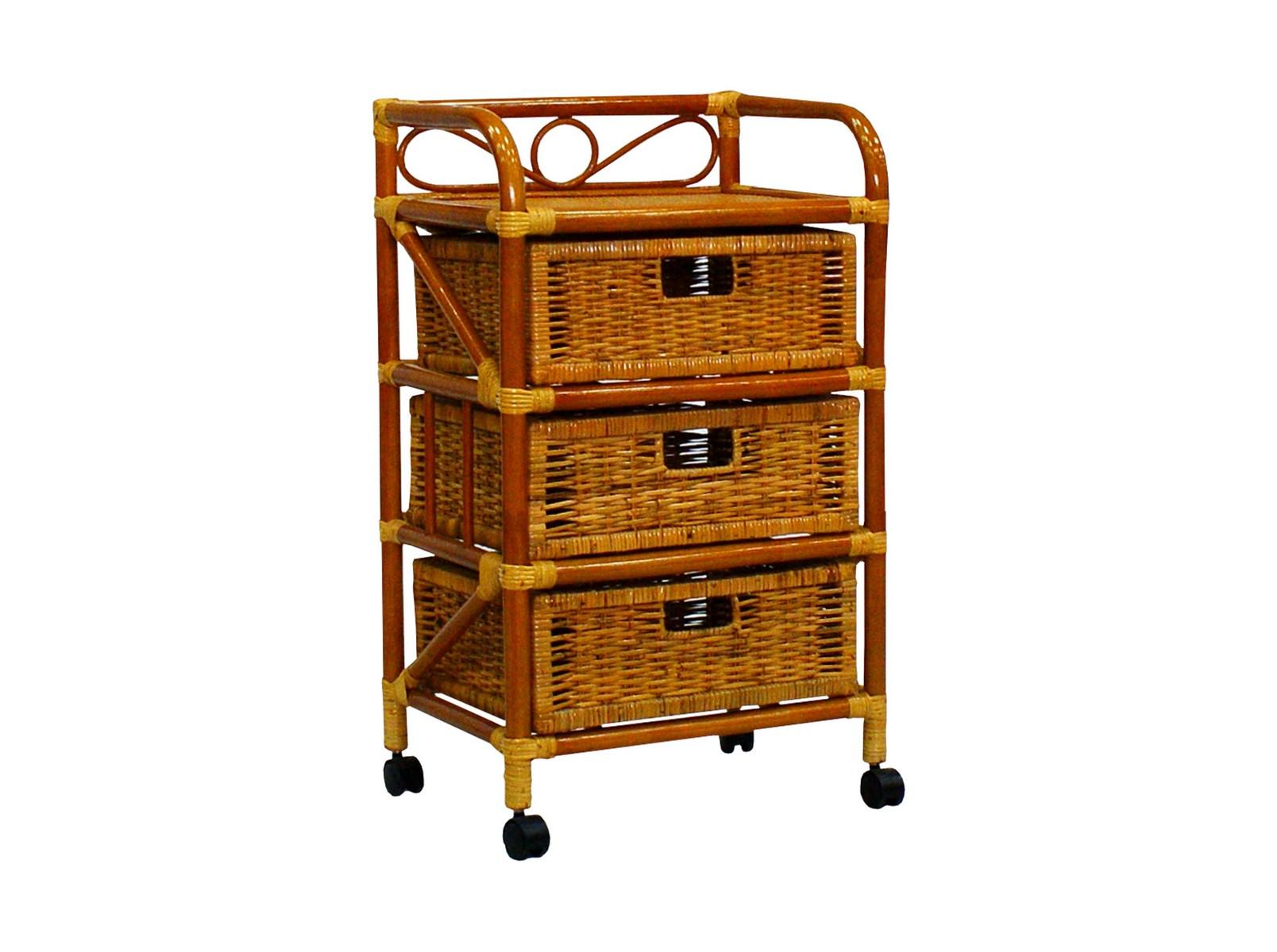Комод с плетеными ящикамиСистемы хранения для улицы<br>Ротанг — гибкое и прочное растение, мебель из ротанга может выдерживать большой вес. Важным достоинством комода из ротанга является его легкость.&amp;lt;div&amp;gt;&amp;lt;br&amp;gt;&amp;lt;/div&amp;gt;&amp;lt;div&amp;gt;Цвет: коньячный&amp;lt;/div&amp;gt;&amp;lt;div&amp;gt;Особенности:  на колесиках&amp;lt;/div&amp;gt;&amp;lt;div&amp;gt;Вес: 6,5 кг&amp;lt;/div&amp;gt;<br><br>Material: Ротанг<br>Ширина см: 48<br>Высота см: 81<br>Глубина см: 36