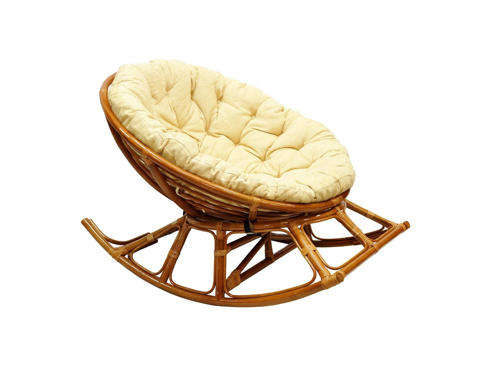 Кресло-качалка PAPASANКресла для сада<br>В этом предмете соединены любимое всеми кресло &amp;quot;Папасан&amp;quot; и классическое кресло-качалка на полозьях.&amp;amp;nbsp;Кресло состоит из 3 частей и может поставляться в собранном или разобранном виде по вашему желанию. Сборка кресла не требует специальных навыков. Верхняя чаша крепится к основанию четырьмя кожаными ремешками. Подушка привязывается к чаше на ремешки.&amp;lt;div&amp;gt;&amp;lt;br&amp;gt;&amp;lt;/div&amp;gt;&amp;lt;div&amp;gt;Материал каркаса: натуральный ротанг&amp;lt;/div&amp;gt;&amp;lt;div&amp;gt;Материал подушки: шенилл&amp;lt;/div&amp;gt;&amp;lt;div&amp;gt;Вес, кг:  18&amp;lt;/div&amp;gt;&amp;lt;div&amp;gt;Выдерживаемая нагрузка, кг:  100&amp;lt;/div&amp;gt;<br><br>Material: Ротанг<br>Ширина см: 115<br>Высота см: 86<br>Глубина см: 149